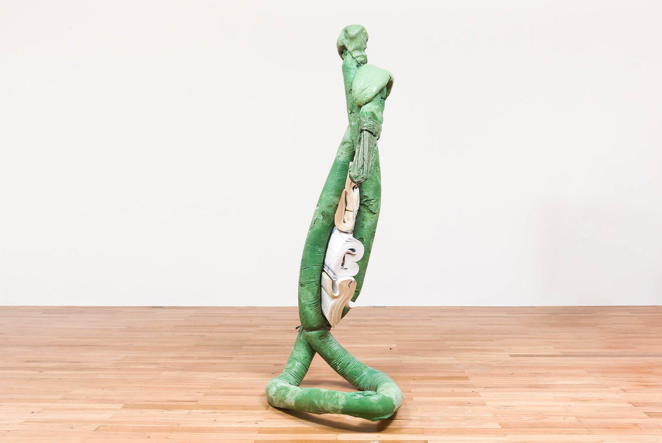 Michael Dean, <em>Analogue x x, now (Working Title)</em>,2015, concrete, dictionaries, string and paint - Mendes Wood DM