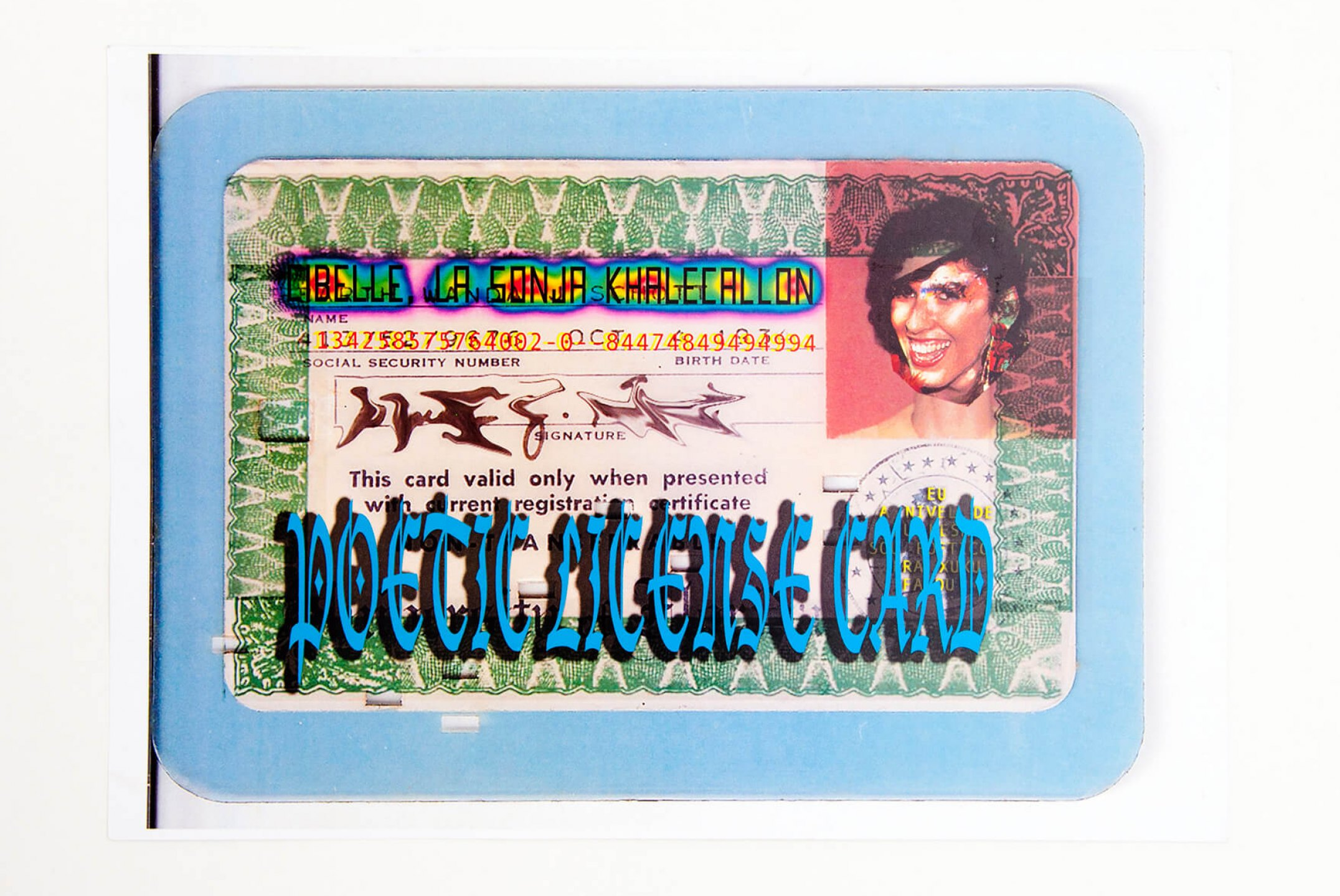 Cibelle Cavalli Bastos, <em>Poetic license card</em>, 2010, mixed media, 21 × 30 cm - Mendes Wood DM