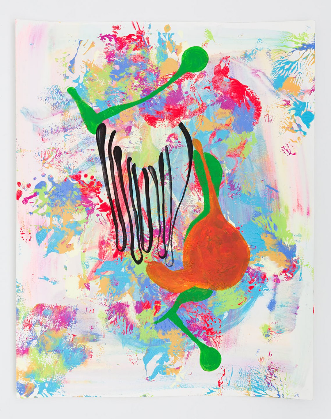 Cibelle Cavalli Bastos, <em>If you had come sooner wouldn't have known better,</em> 2014, acrylic and silkscreen ink on paper, 50 × 41 cm - Mendes Wood DM