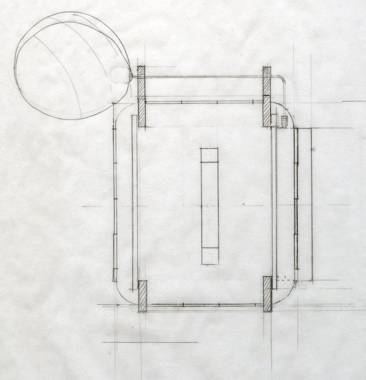 Leticia Ramos,<em>Bitácora_câmera polar</em>, 2011,pencil on paper, 25,5 ×23 cm - Mendes Wood DM