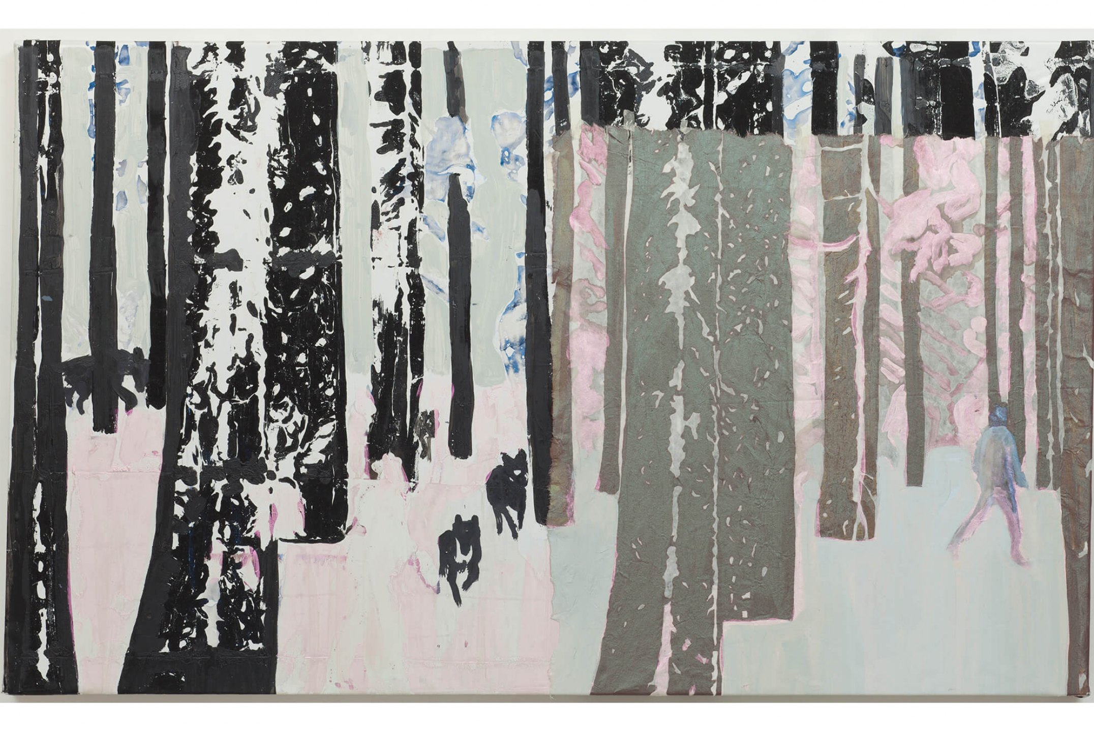 Marina Perez Simão, <em>Untitled</em>, 2012, acrylic and pigment iridescent on plastic and overlay paper, 23,6× 39,3 inches - Mendes Wood DM