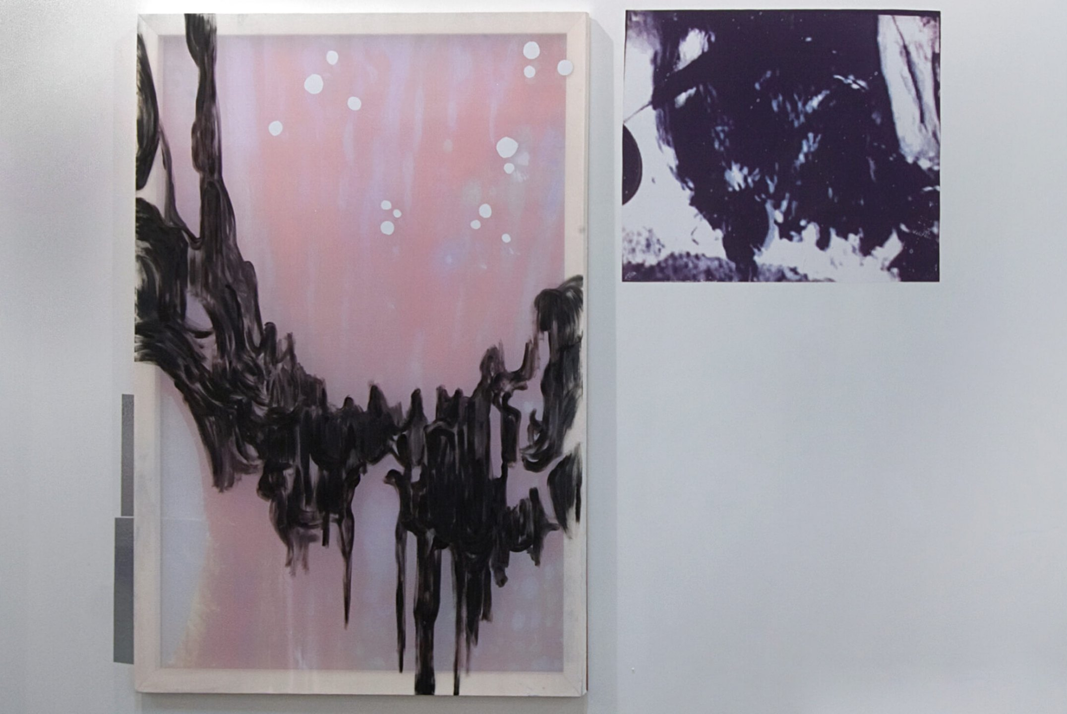 Marina Perez Simão, <em>Untitled</em>, 2013,&nbsp;acrylic on plastic, polyester, reflective paper and printing on reflective paper, 178&nbsp;× 230 cm&nbsp; - Mendes Wood DM