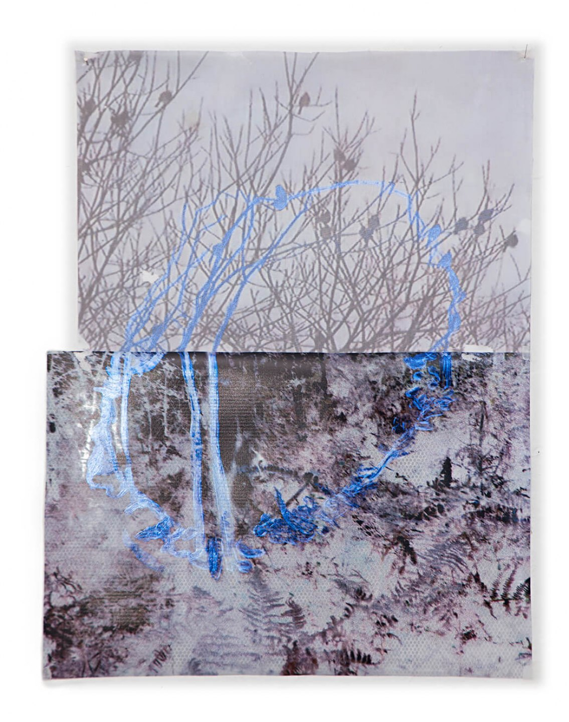 Marina Perez Simão, <em>Untitled,</em>&nbsp;2013, acrylic on plastic, plyester and printing on reflexive paper, 64,5&nbsp;× 50 cm&nbsp; - Mendes Wood DM