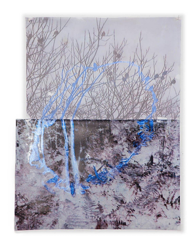Marina Perez Simão, <em>Untitled,</em>&nbsp;2013, acrylic on plastic, plyester and printing on reflexive paper, 64,5&nbsp;× 50 cm&nbsp; - Mendes Wood DM