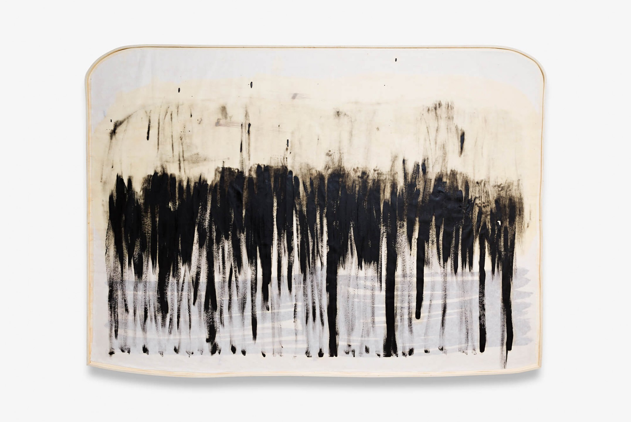 Marina Perez Simão, <em>Untitled,</em> 2014, oil on korean paper, &nbsp;141 × 188 × 4,5 cm&nbsp; - Mendes Wood DM