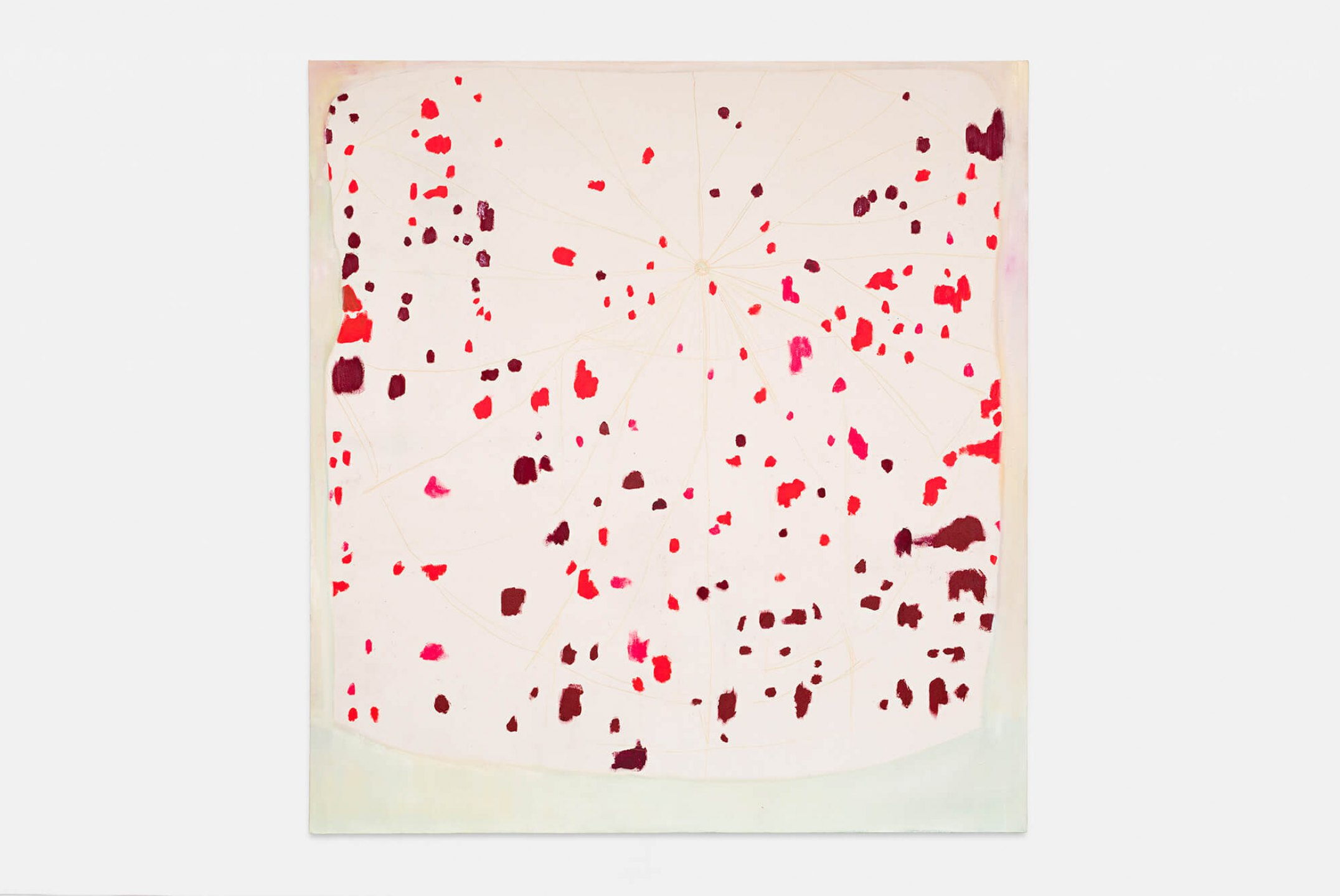 Marina Perez Simão, <em>Untitled,</em> 2014, oil, acrylic and pencil color on canvas, 175 × 190 cm  - Mendes Wood DM