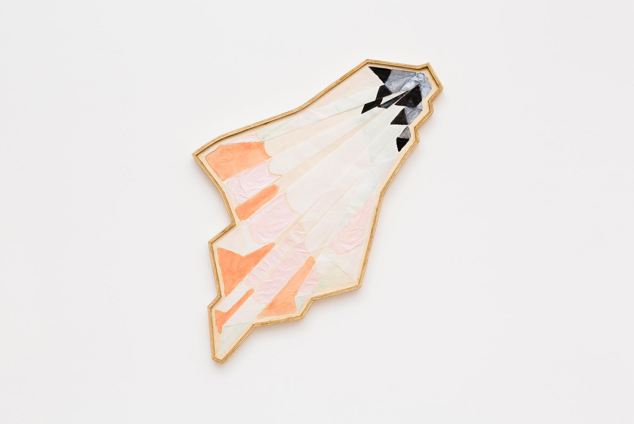 Marina Perez Simão,&nbsp;<em>Untitled,</em>&nbsp;2015, acrylic, color pencil and iridescent pigment on&nbsp; paper assembled on wood, 99,5 × 57,5&nbsp;× 4,5&nbsp;cm&nbsp; - Mendes Wood DM