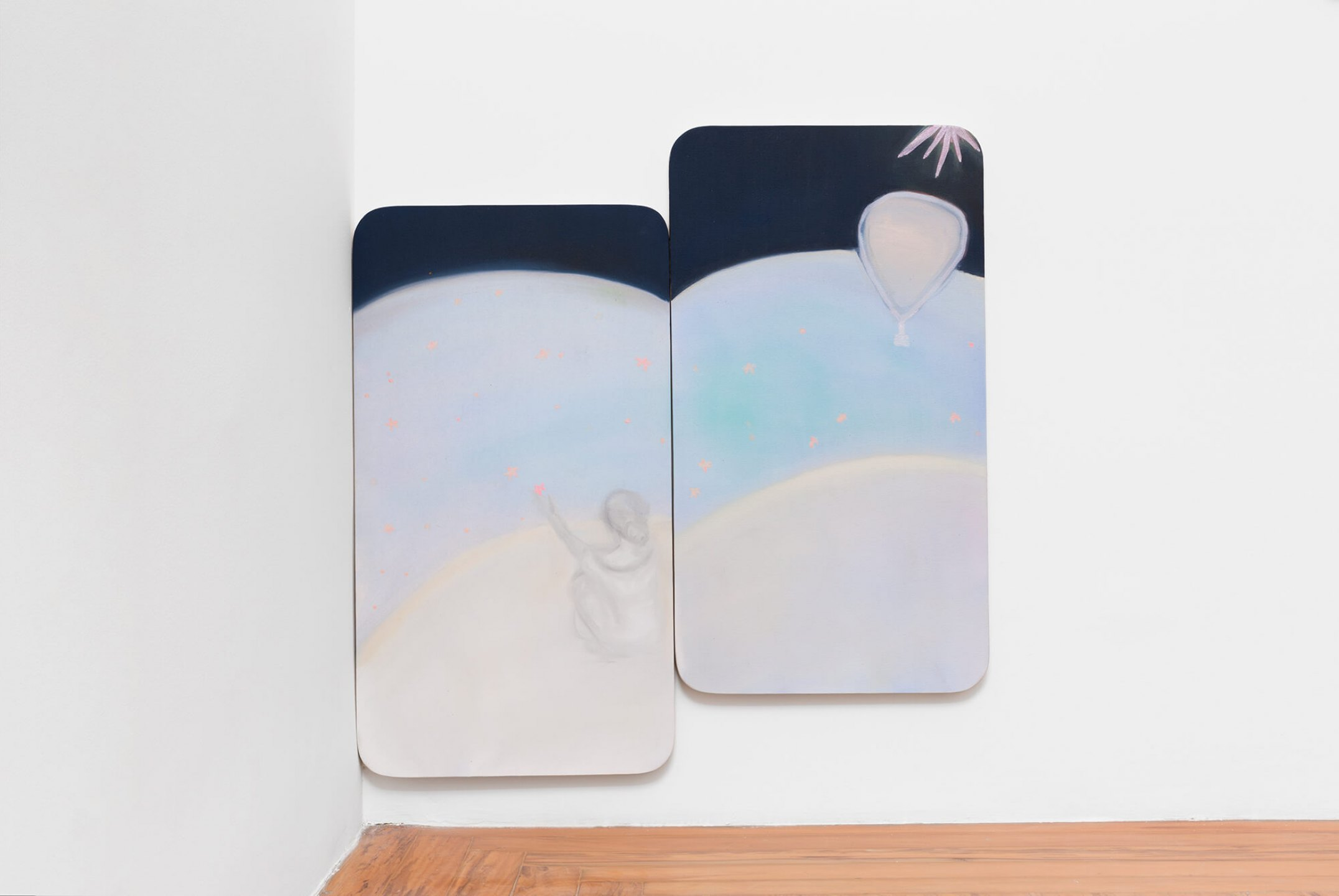 Marina Perez Simão, <em>Untitled,</em> 2015, oil and iridescent pigment on canvas, 90 × 50 × 2 cm  - Mendes Wood DM
