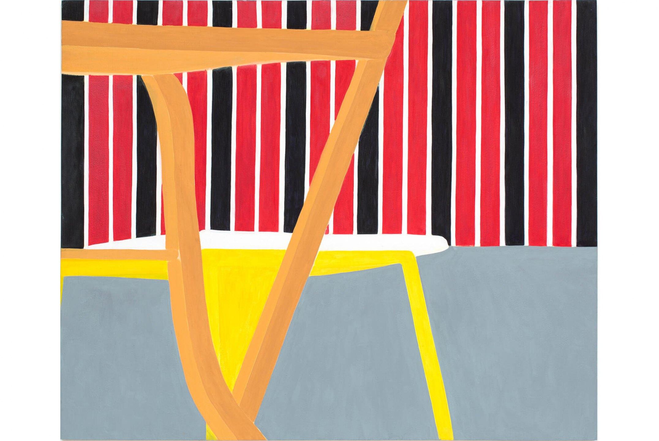 Patricia Leite, <em>Beira-Serra</em>,2012, oil on wood, 90×110 cm - Mendes Wood DM