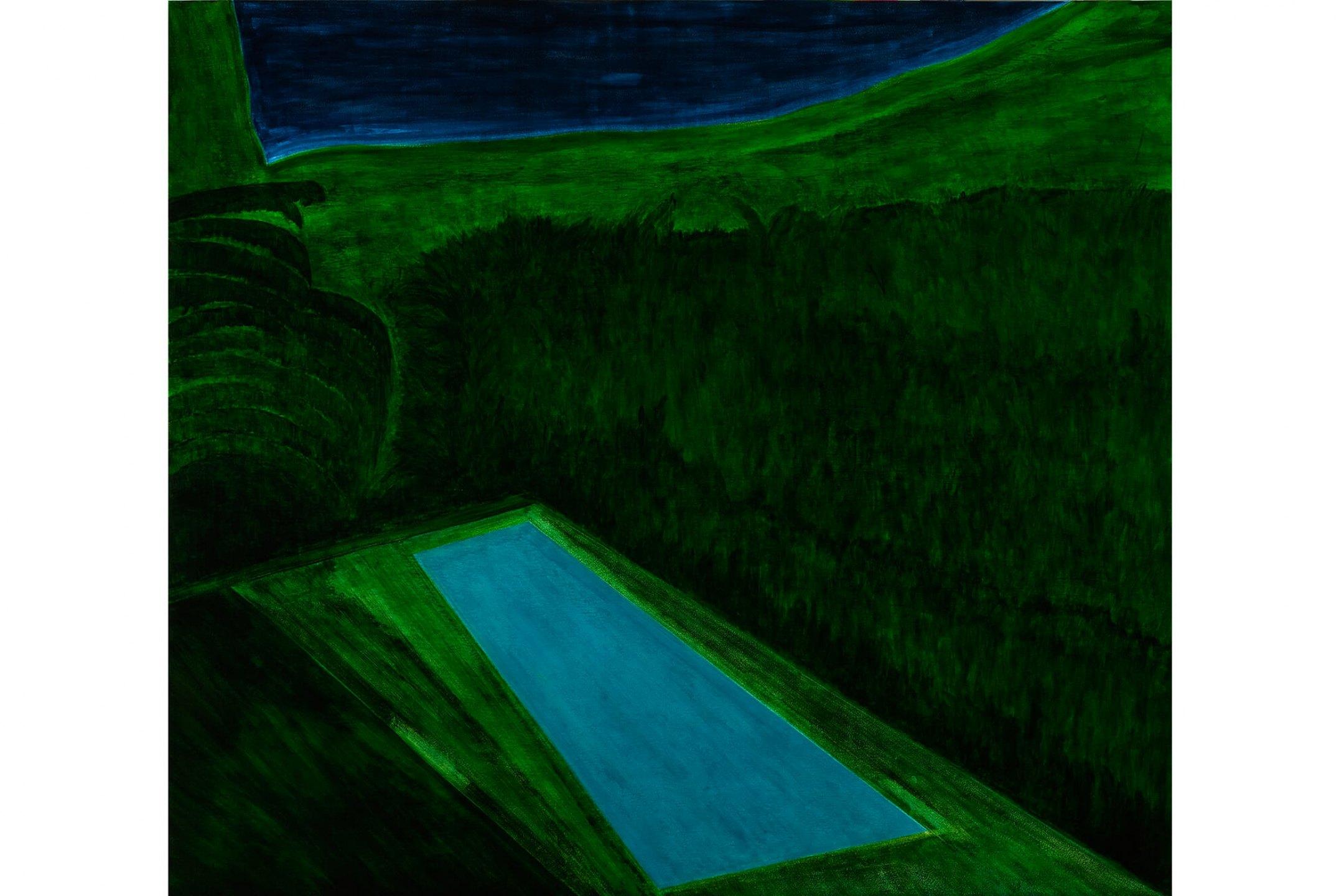 Patricia Leite,<em>Untitled (Macacos)</em>,2008, oil on wood, 160 × 180 cm - Mendes Wood DM