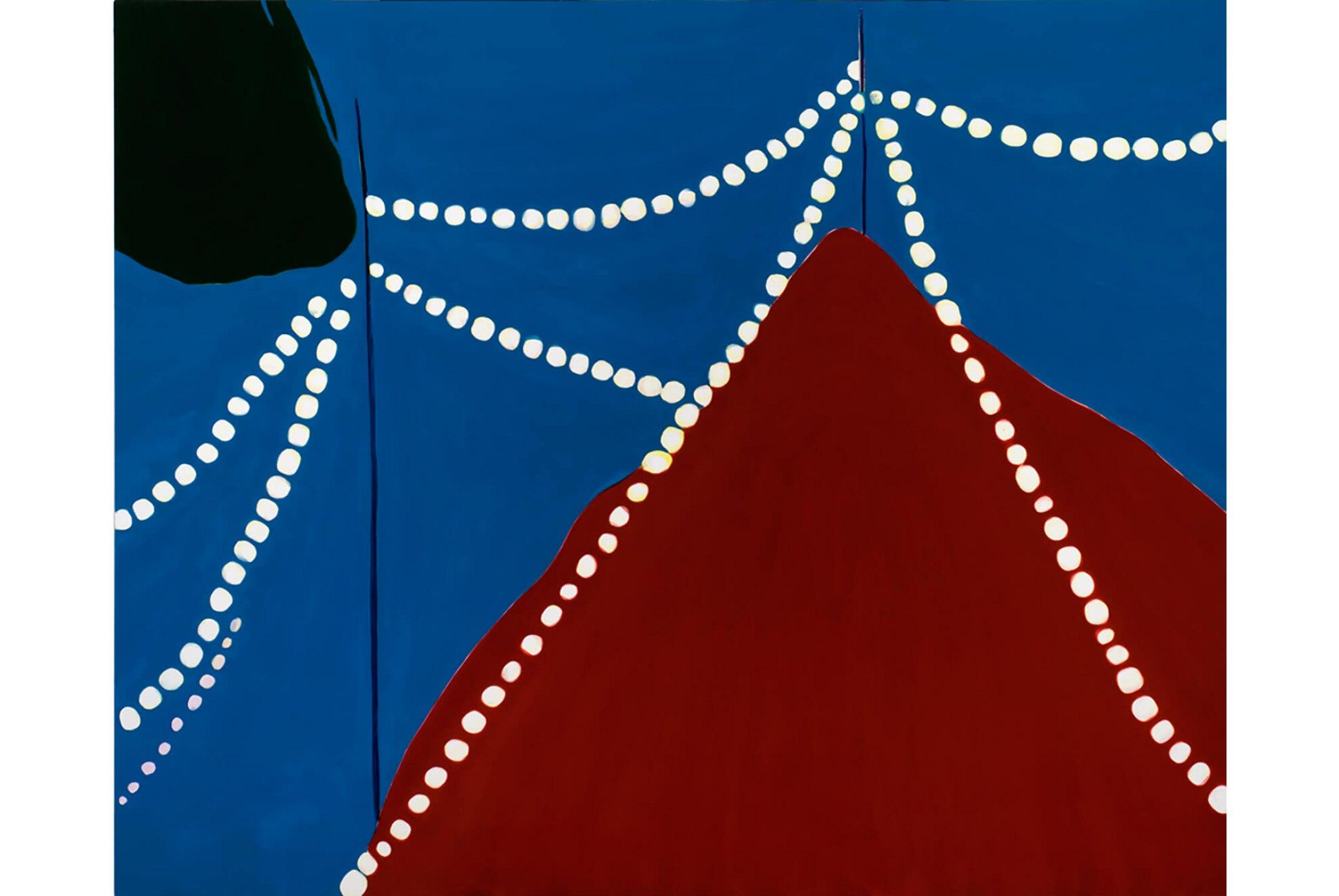 Patricia Leite,<em>Untitled (Lamp Bulbs I)</em>,2009, oil on wood, 180 × 200 cm - Mendes Wood DM