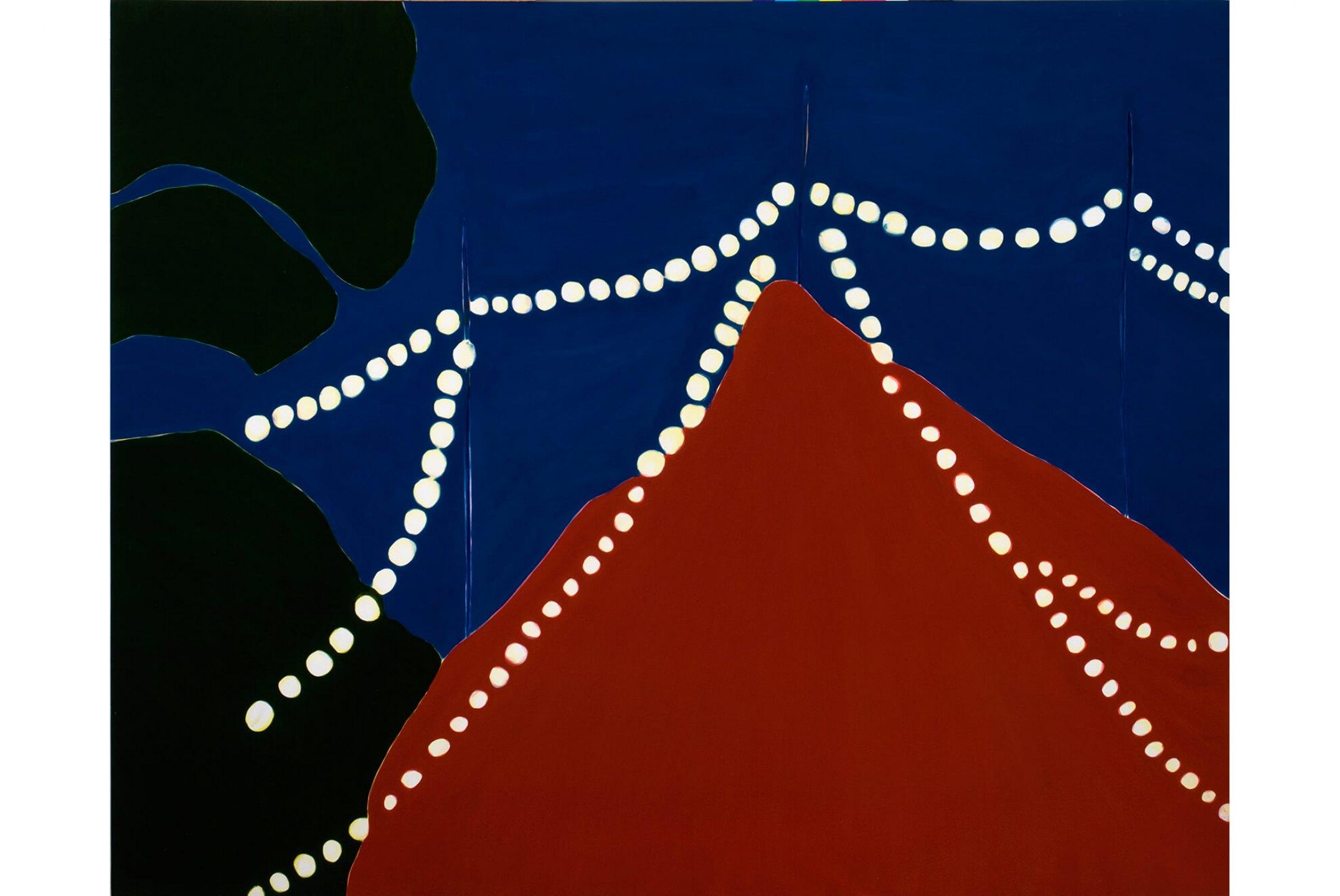 Patricia Leite, <em>Untitled (Lamp Bulbs III)</em>,&nbsp;2009, oil on wood, 180&nbsp;×&nbsp;200 cm - Mendes Wood DM