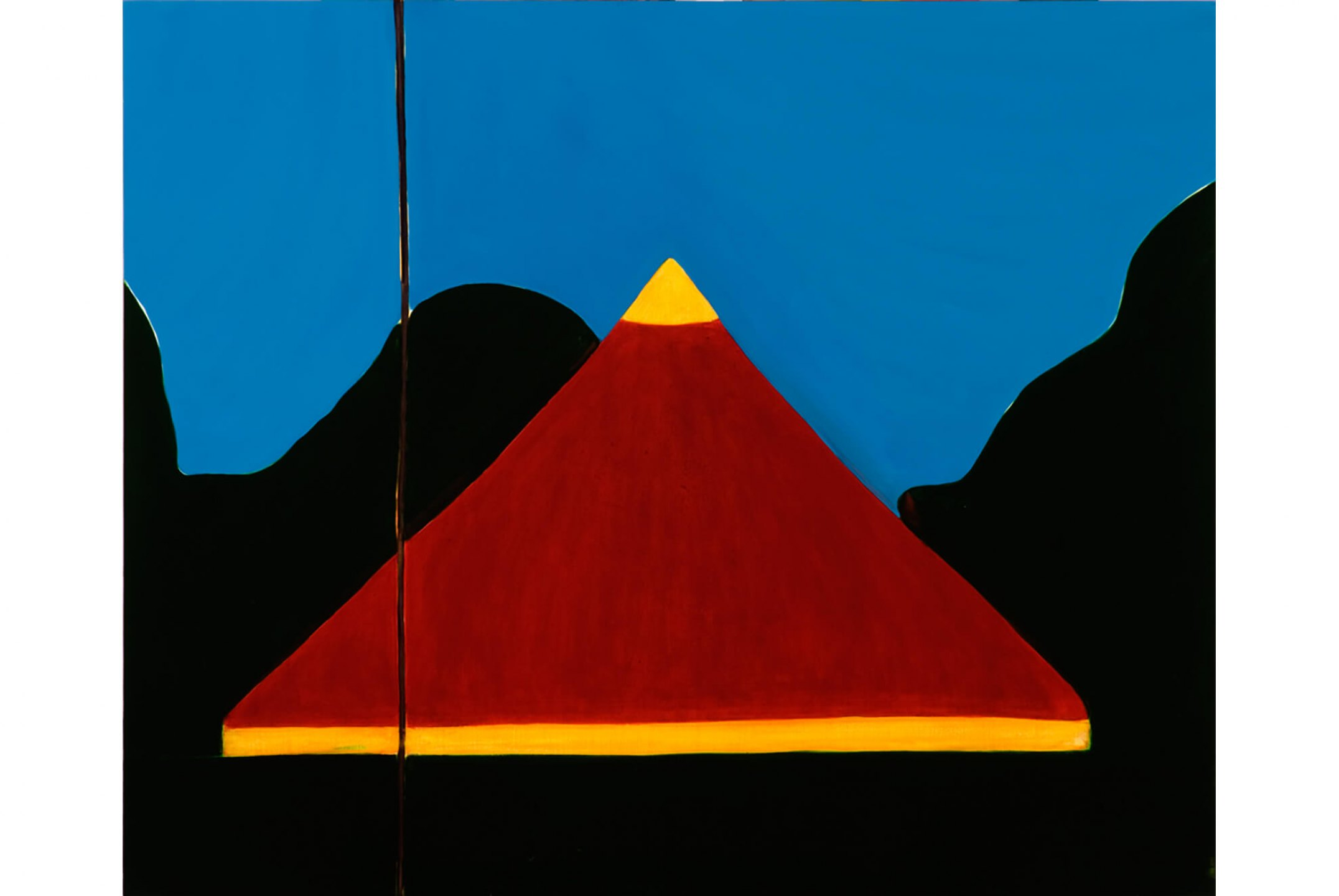Patricia Leite,&nbsp;<em>Untitled (Li Canvas),</em>&nbsp;2009, oil on wood, 90 ×&nbsp;110 cm - Mendes Wood DM