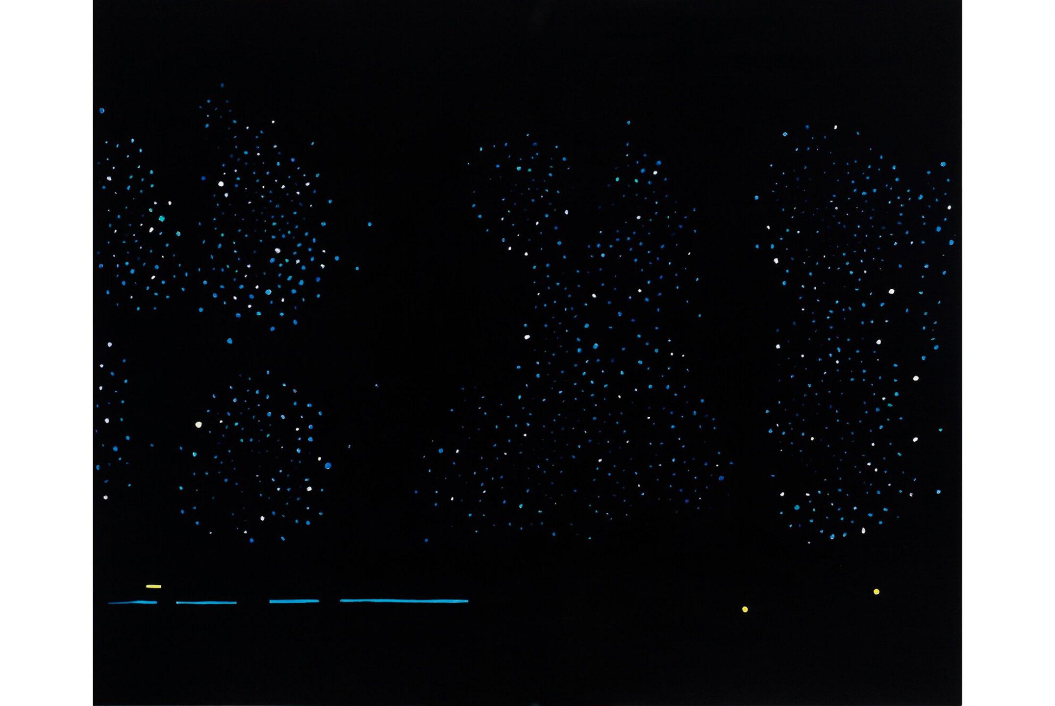 Patricia Leite, <em>Untitled (Night</em>),2010, oil on wood, 90×110 cm - Mendes Wood DM