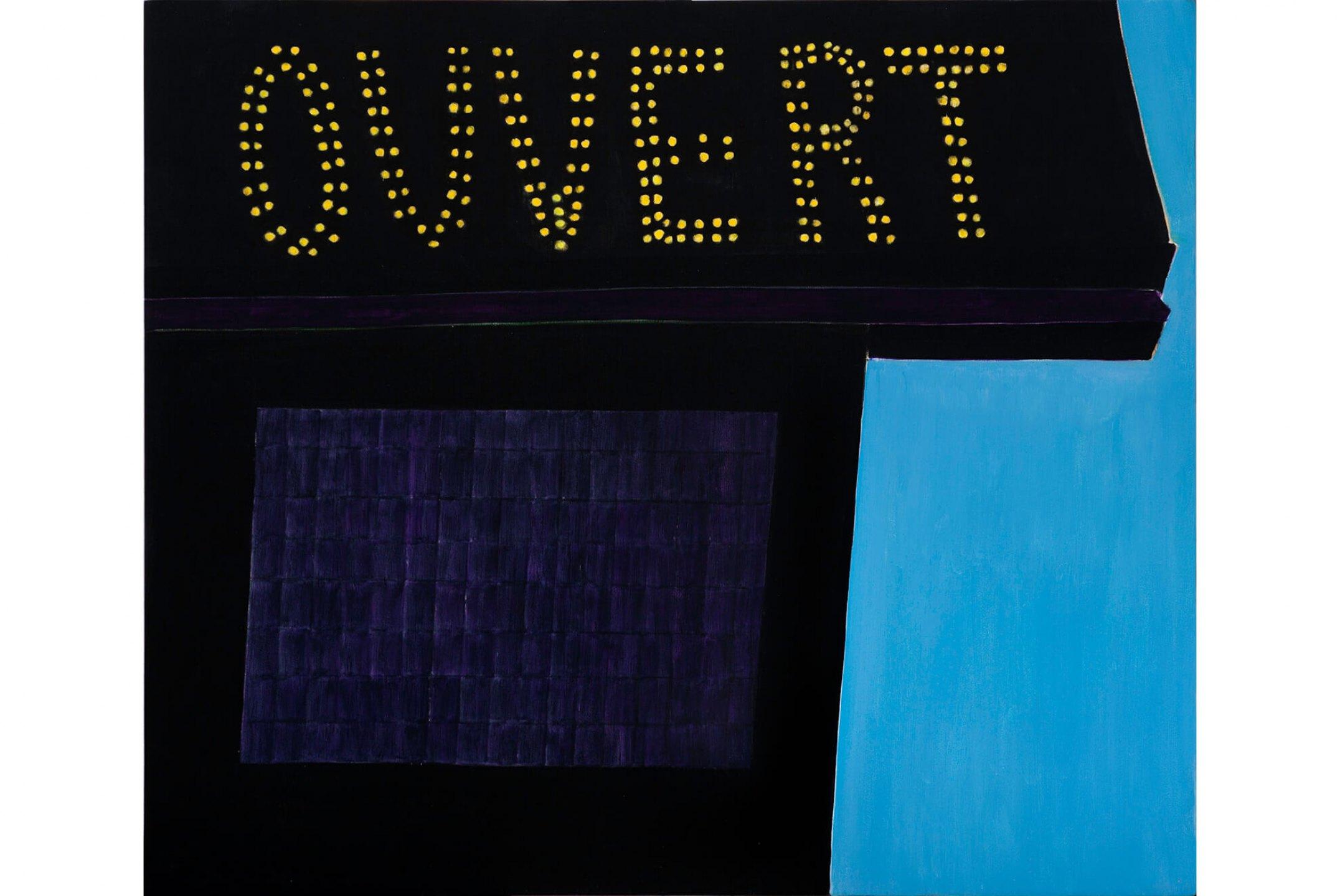 Patricia Leite, <em>Ouvert,</em>2012, oil on wood, 60×70 cm - Mendes Wood DM
