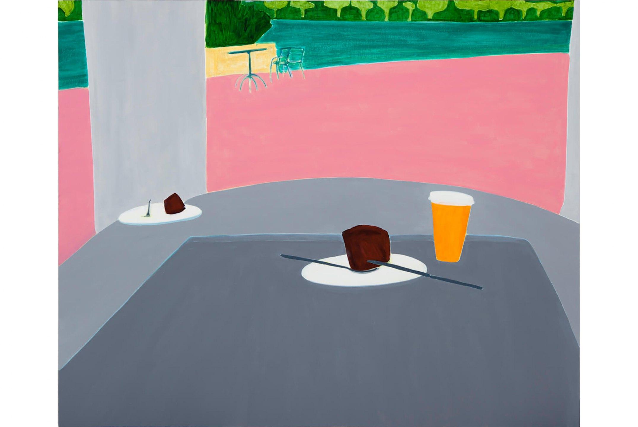 Patricia Leite, <em>Lanche,</em>2012, oil on wood, 90 × 110 cm - Mendes Wood DM