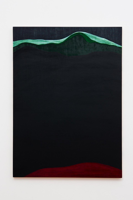 Patricia Leite, <em>Montanha Vermelha</em>,2004, oil on wood, 110 × 79 cm - Mendes Wood DM