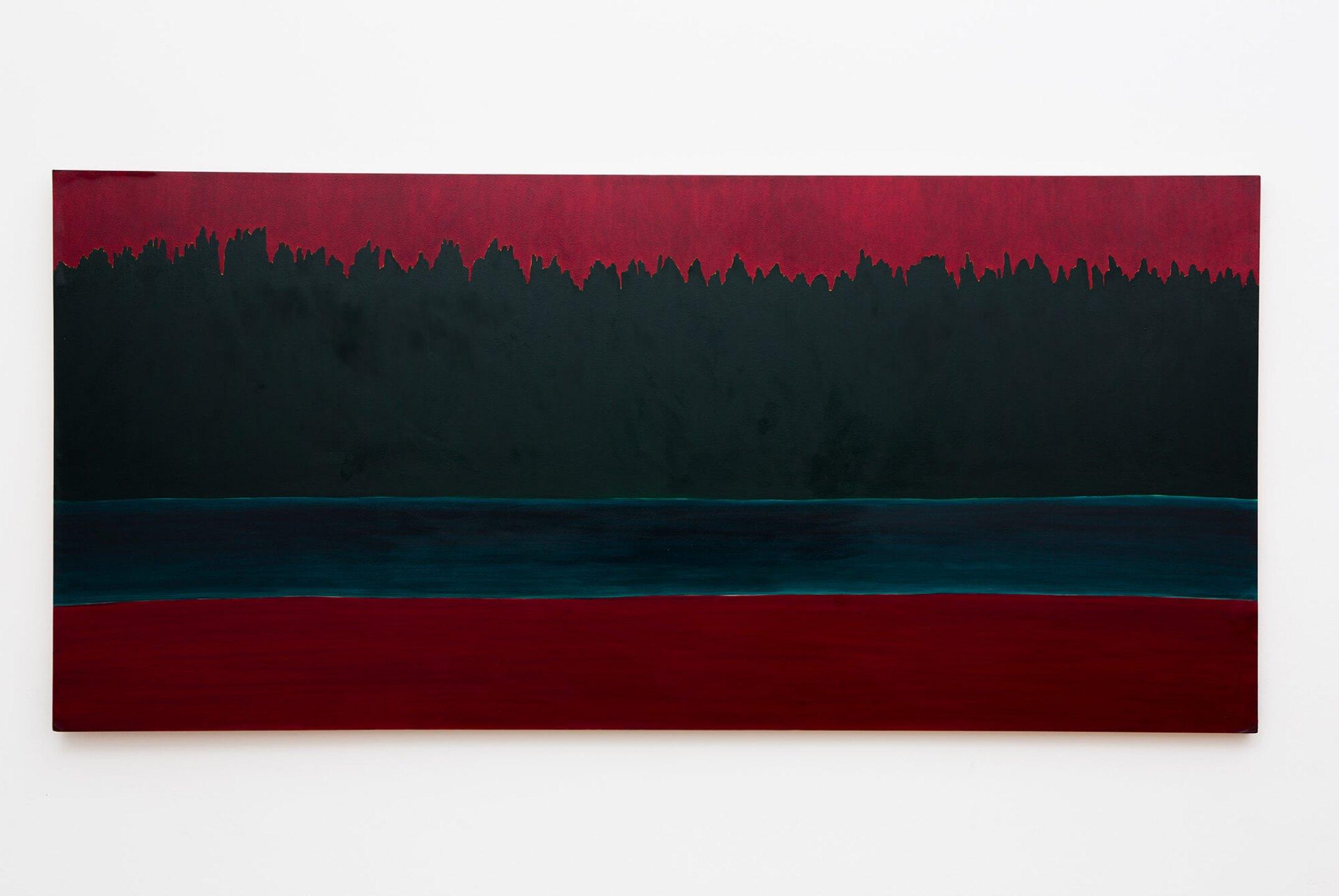 Patricia Leite, <em>Crepúsculo Boreal,</em> 2005-2012, oil on wood, 183×85 cm - Mendes Wood DM