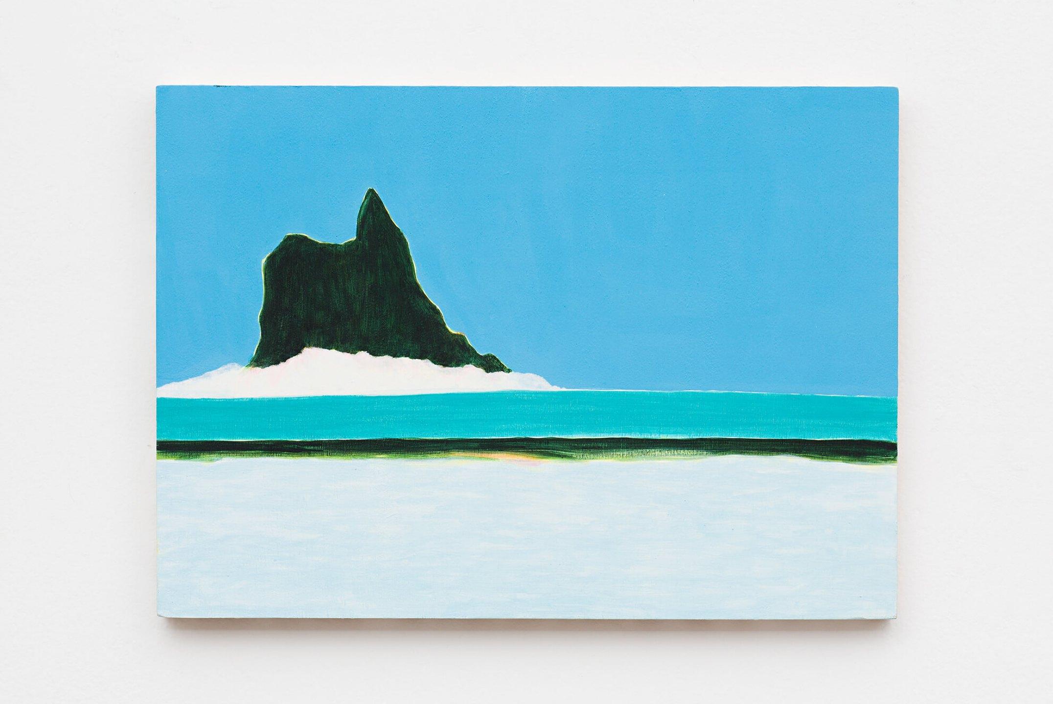 Patricia Leite, <em>Atalaia,</em> 2013, oil on wood, 30×40 cm - Mendes Wood DM