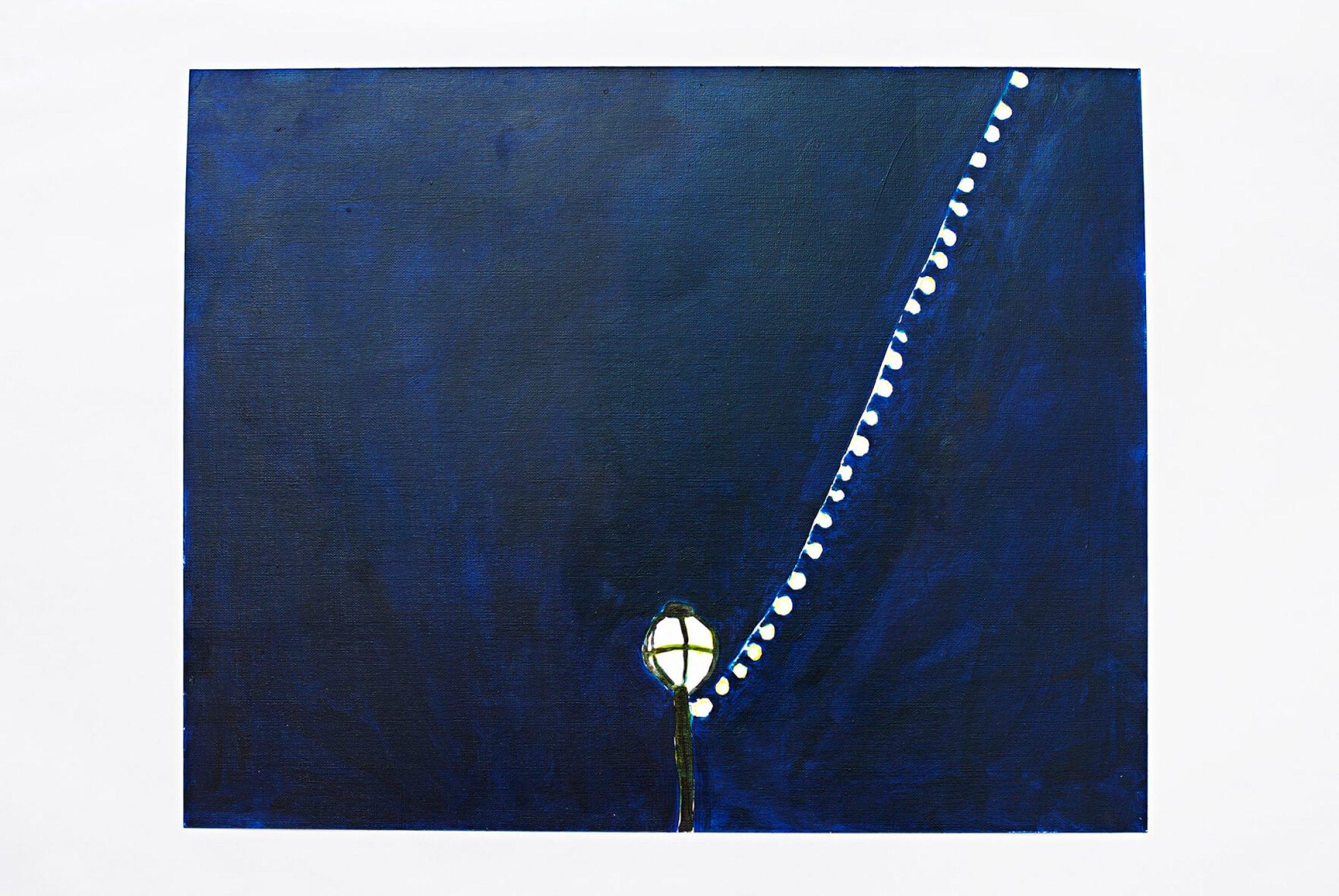 Patricia Leite, <em>Lamppost,</em>2013, oil on paper, 33 × 41 cm - Mendes Wood DM