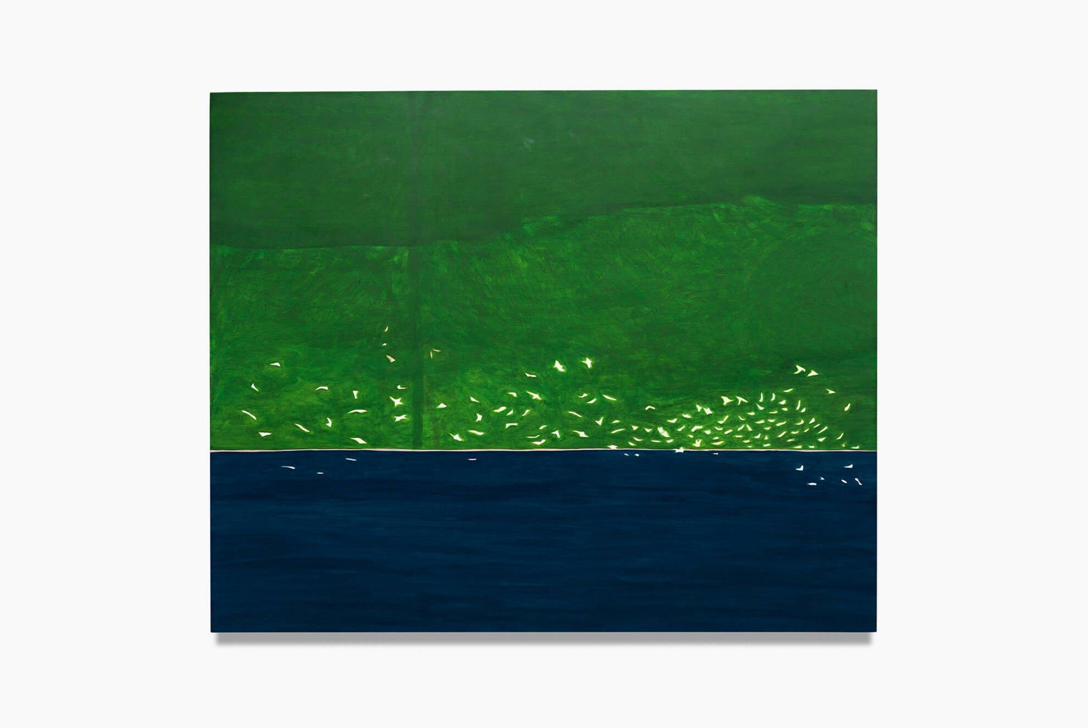 Patricia Leite, <em>Flock</em>, 2014, oil on wood, 160×130 cm - Mendes Wood DM