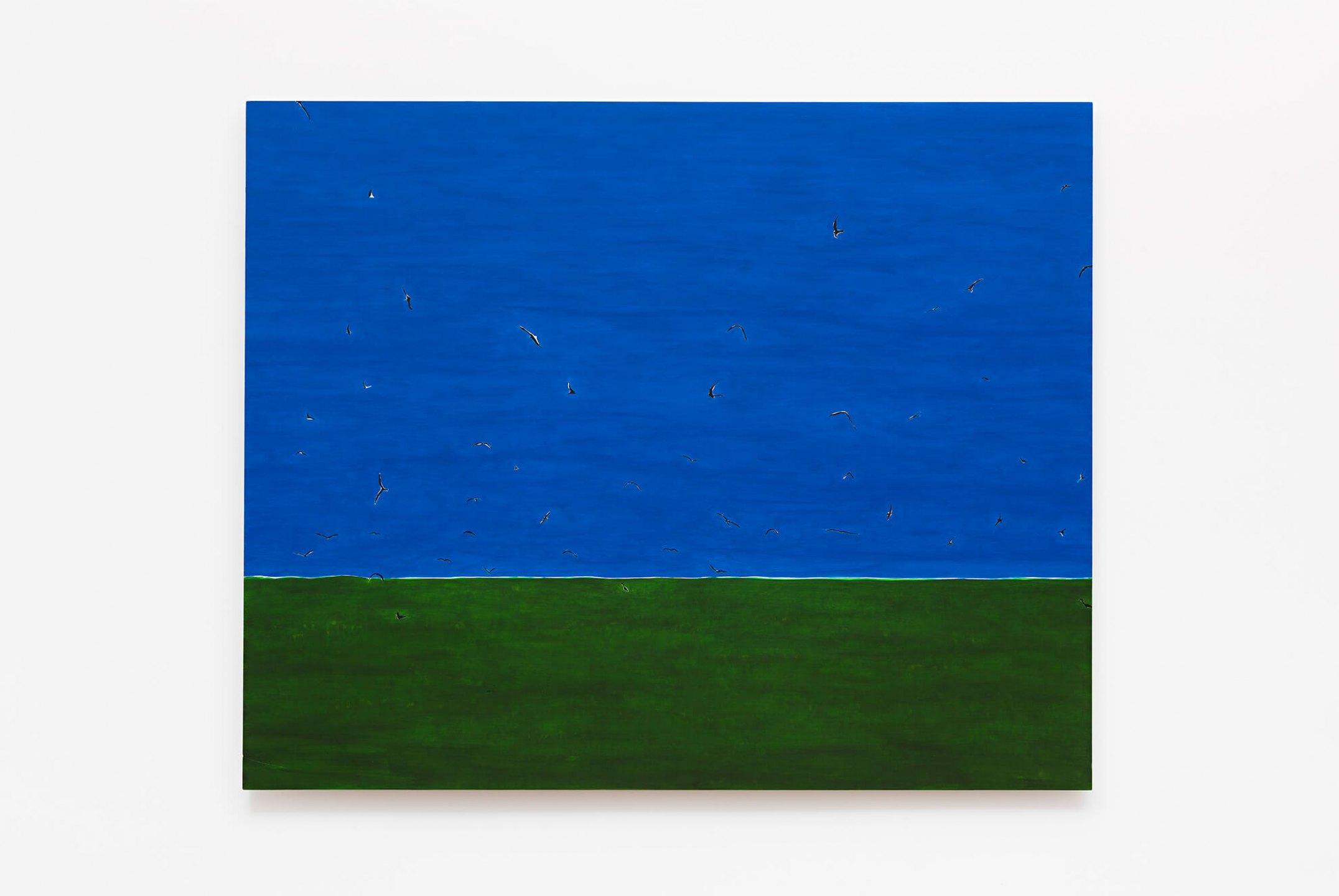 Patricia Leite, <em>Atol III</em>, 2014, oil on wood,160×130 cm - Mendes Wood DM