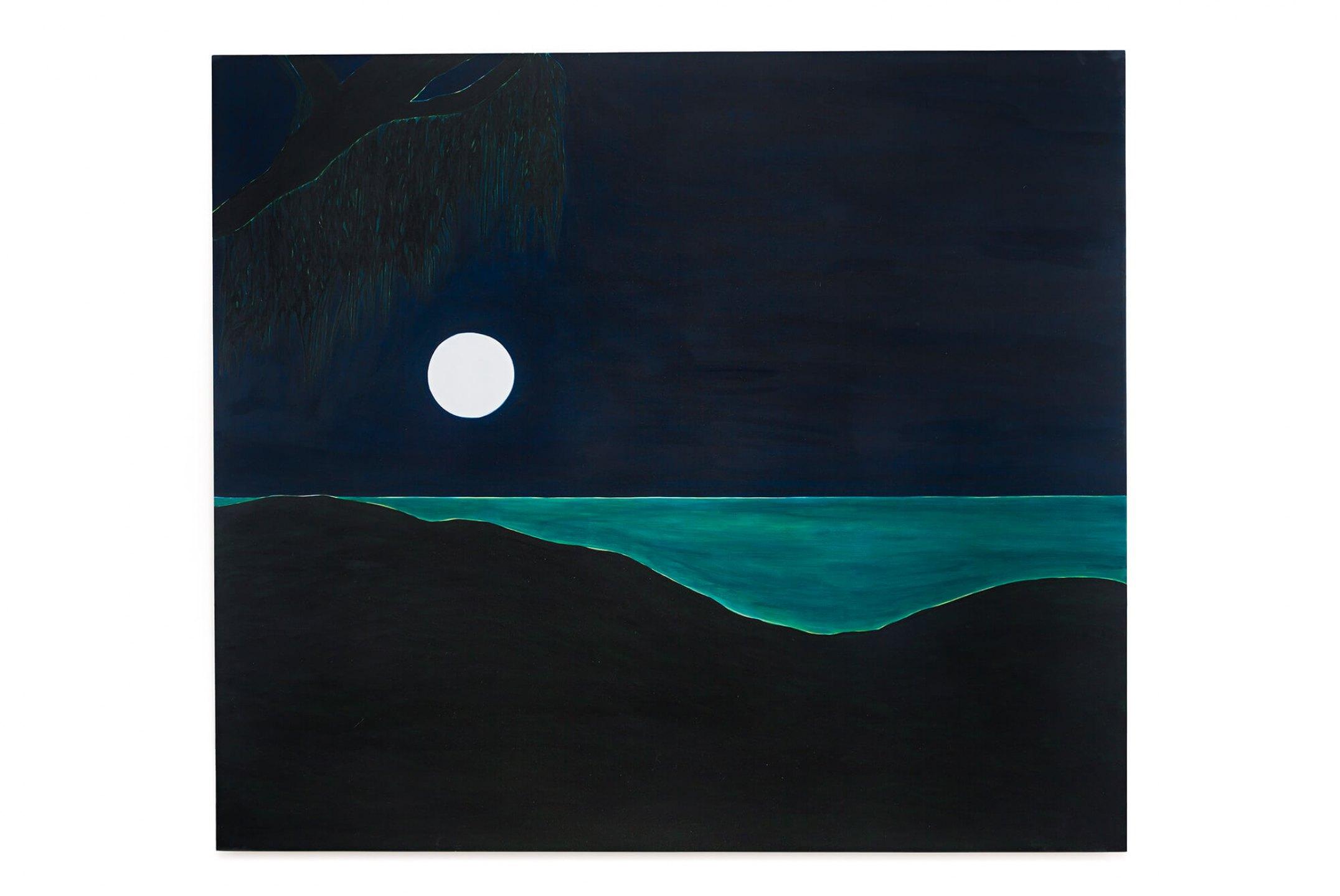 Patricia Leite, <em>De longe,</em> 2015, oil on wood, 40×50 cm - Mendes Wood DM