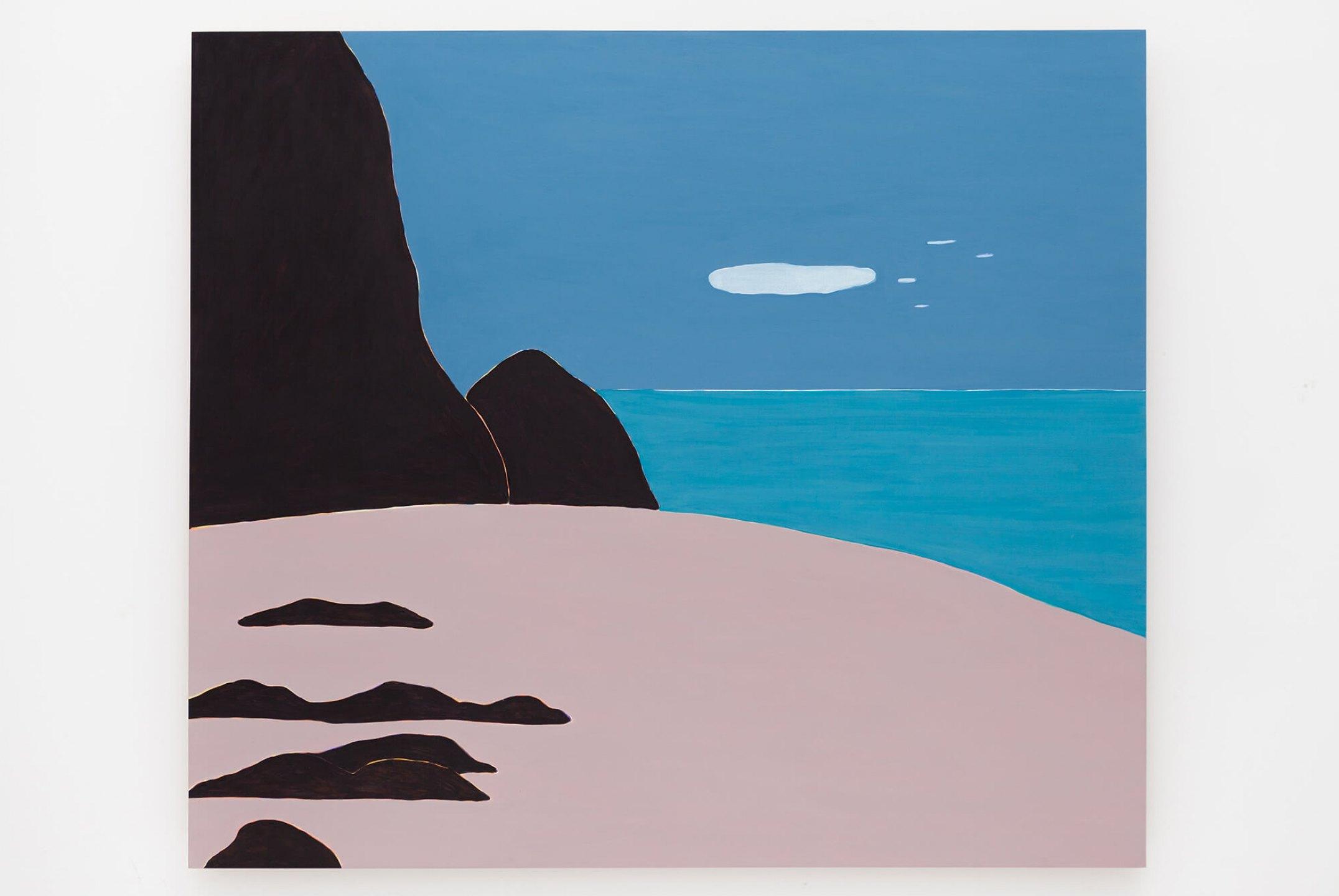 Patricia Leite, <em>Fim de tarde com nuvem</em>,2015, oil on wood, 140×160 cm - Mendes Wood DM