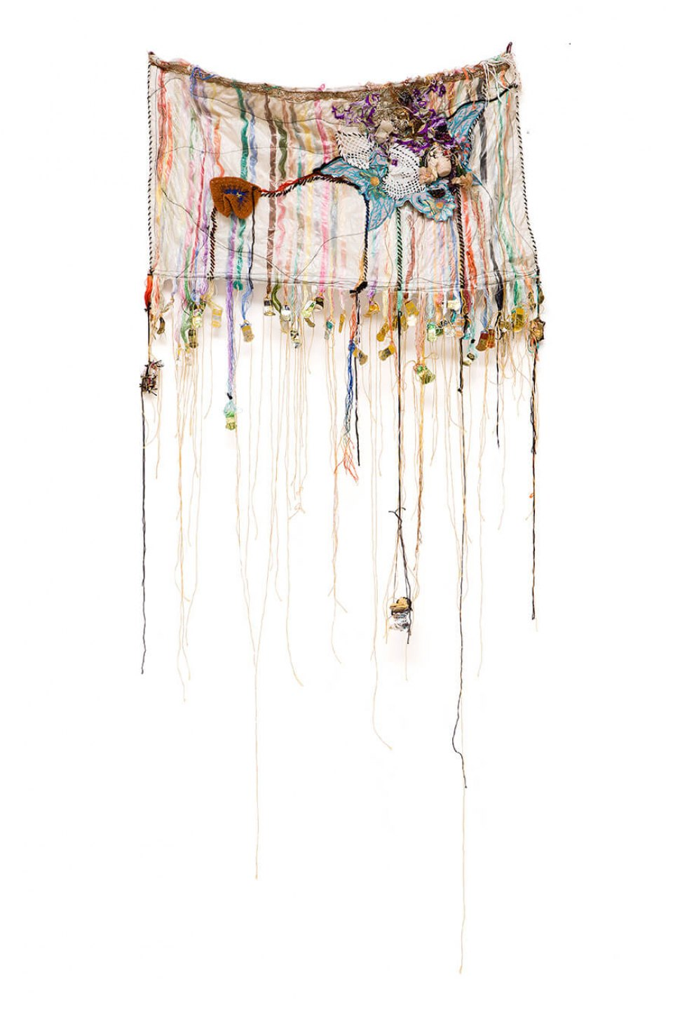 Sonia Gomes, <em>untitled</em>, 2016, stitching, bindings, different fabrics and laces, 126 × 82 cm - Mendes Wood DM