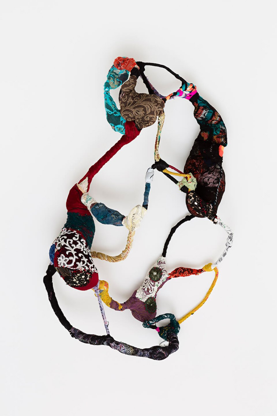Sonia Gomes, <em>untitled, from Torção series</em>, 2015, sewing, moorings and different fabrics on wire, 90 × 60 × 35 cm - Mendes Wood DM