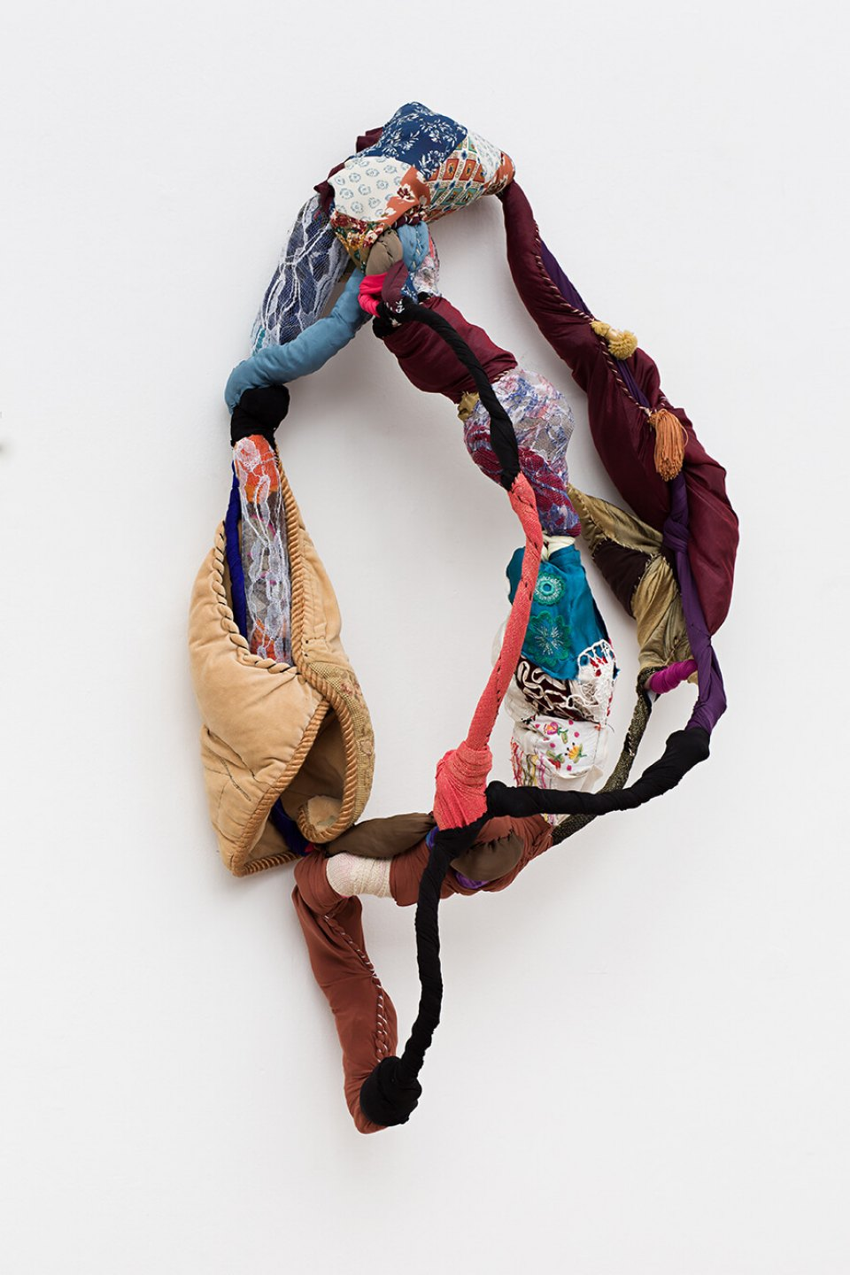 Sonia Gomes,<em>Tórax, from Torção series</em>, 2014, sewing, binding, different fabric on wire, 100 × 60 × 40 cm - Mendes Wood DM