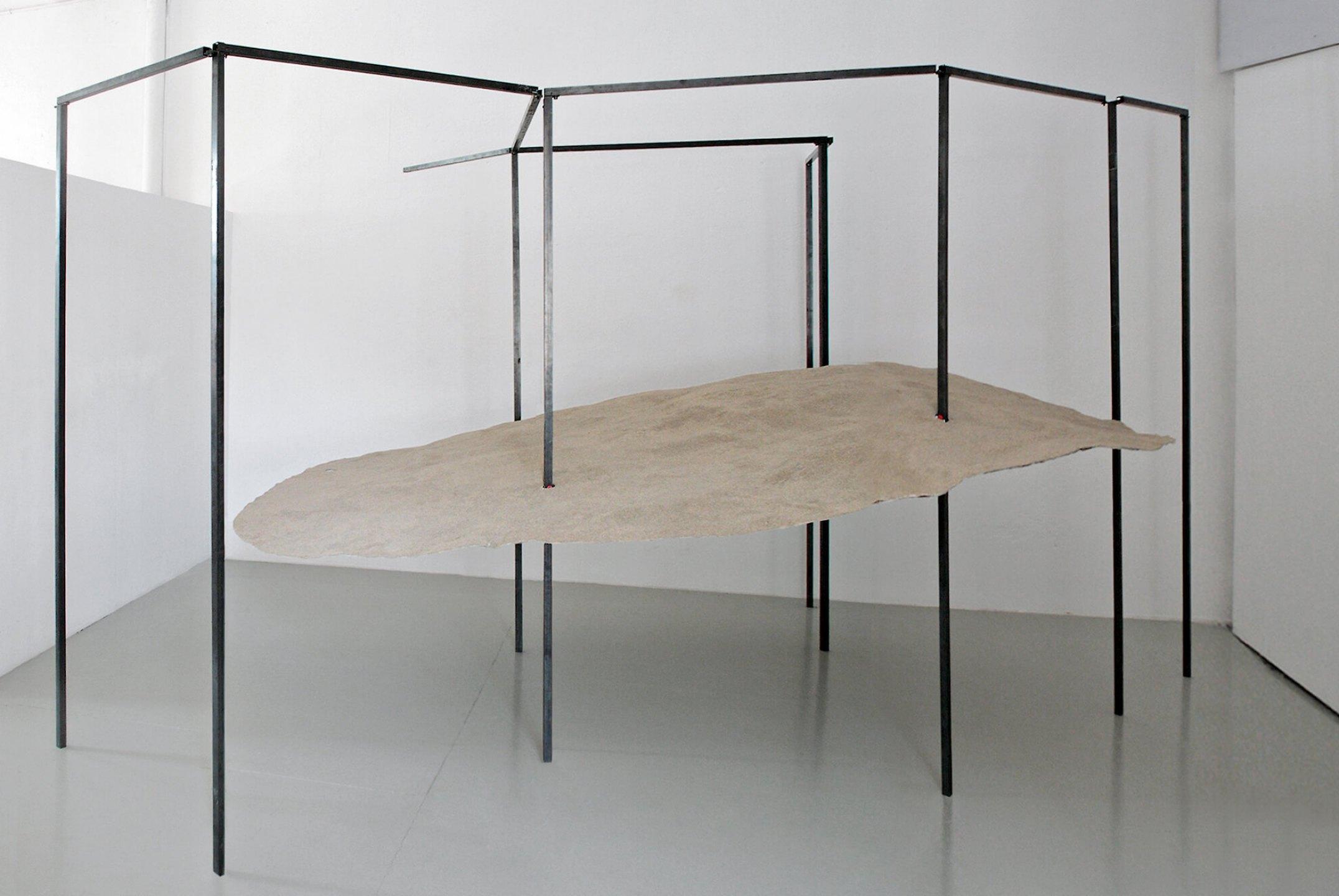 Daniel Steegmann Mangrané, <em>Economic Dune</em>, 2012, fiberglass and sand, 3,50 × 2,50 ×1 m - Mendes Wood DM