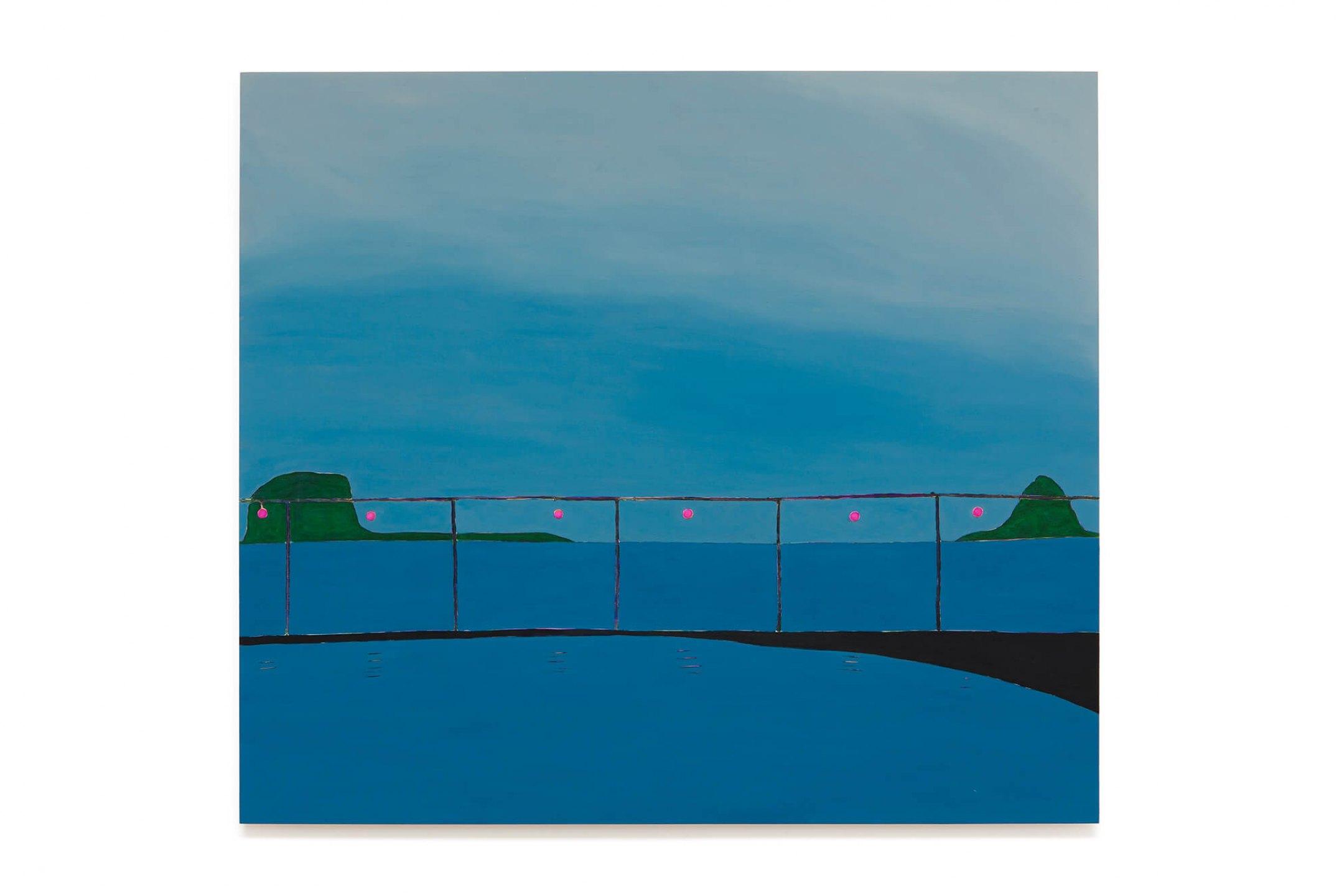 Patricia Leite, <em>Cais</em>, 2016, oil on wood, 130&nbsp;×&nbsp;150 cm&nbsp; - Mendes Wood DM