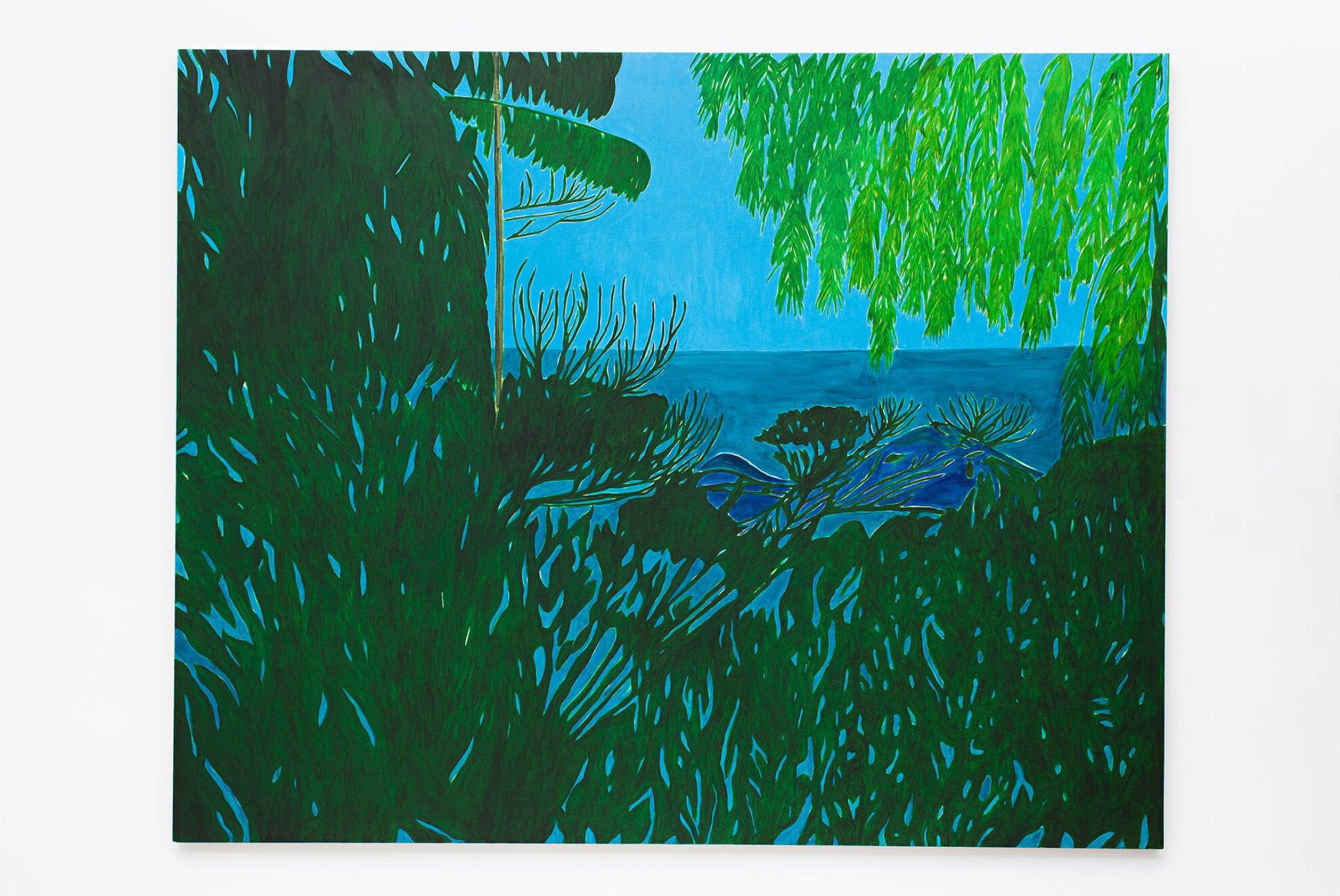 Patricia Leite, <em>Sítio São Pedro</em>, 2013, oil on wood, 160×200 cm - Mendes Wood DM