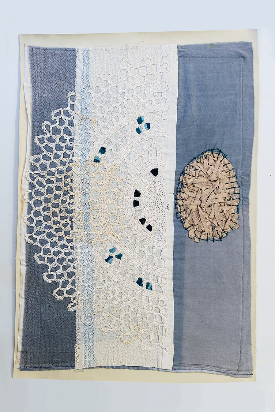 f.marquespeteado,&nbsp;<em>Untitled 05,</em>&nbsp;2011, applications hand and machine embroidered on PVC, 74&nbsp;×&nbsp;51 cm - Mendes Wood DM
