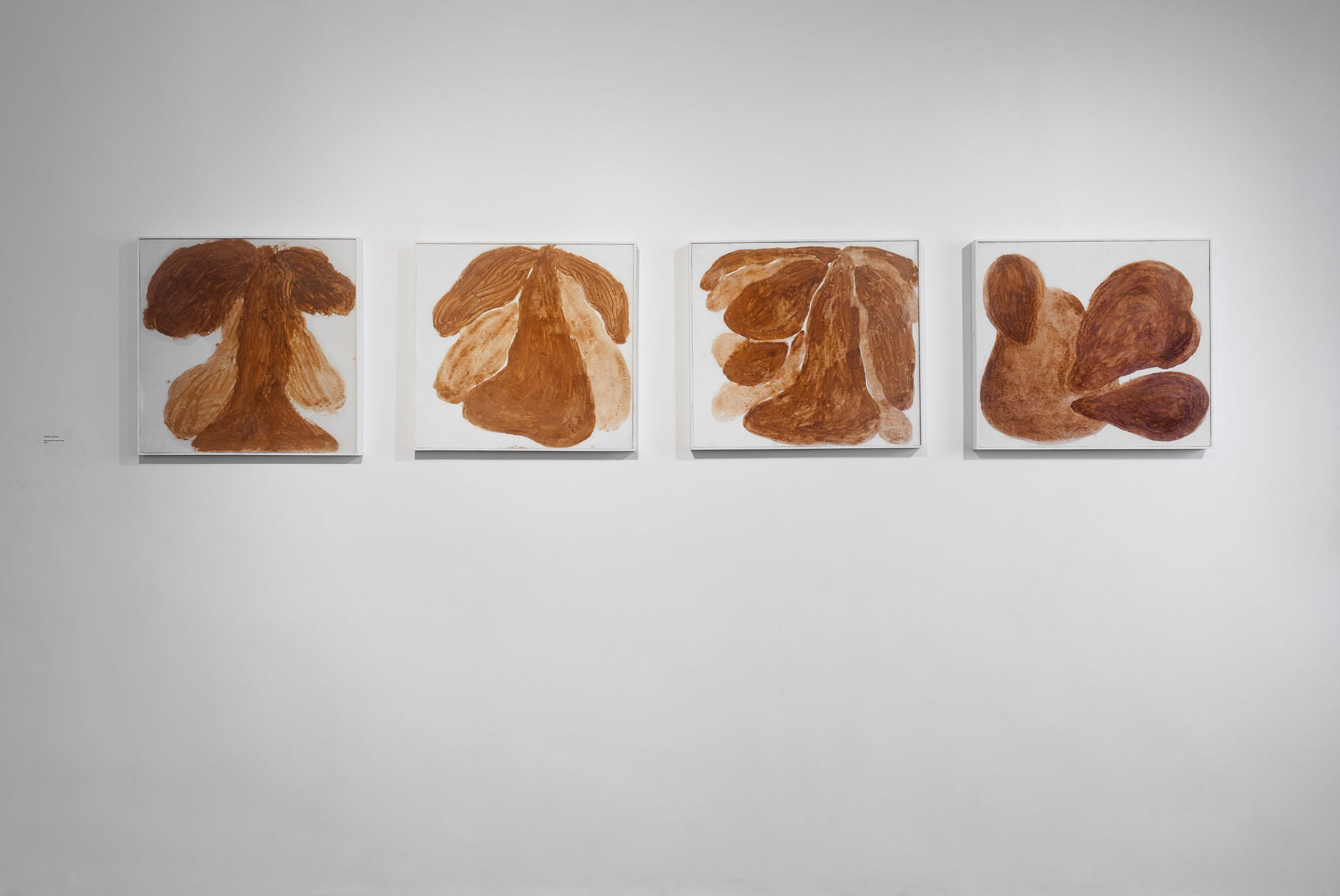 Solange Pessoa, <em>untitled,</em> 2007, clay and fat on canvas, 68 × 68 cm (each) - Mendes Wood DM
