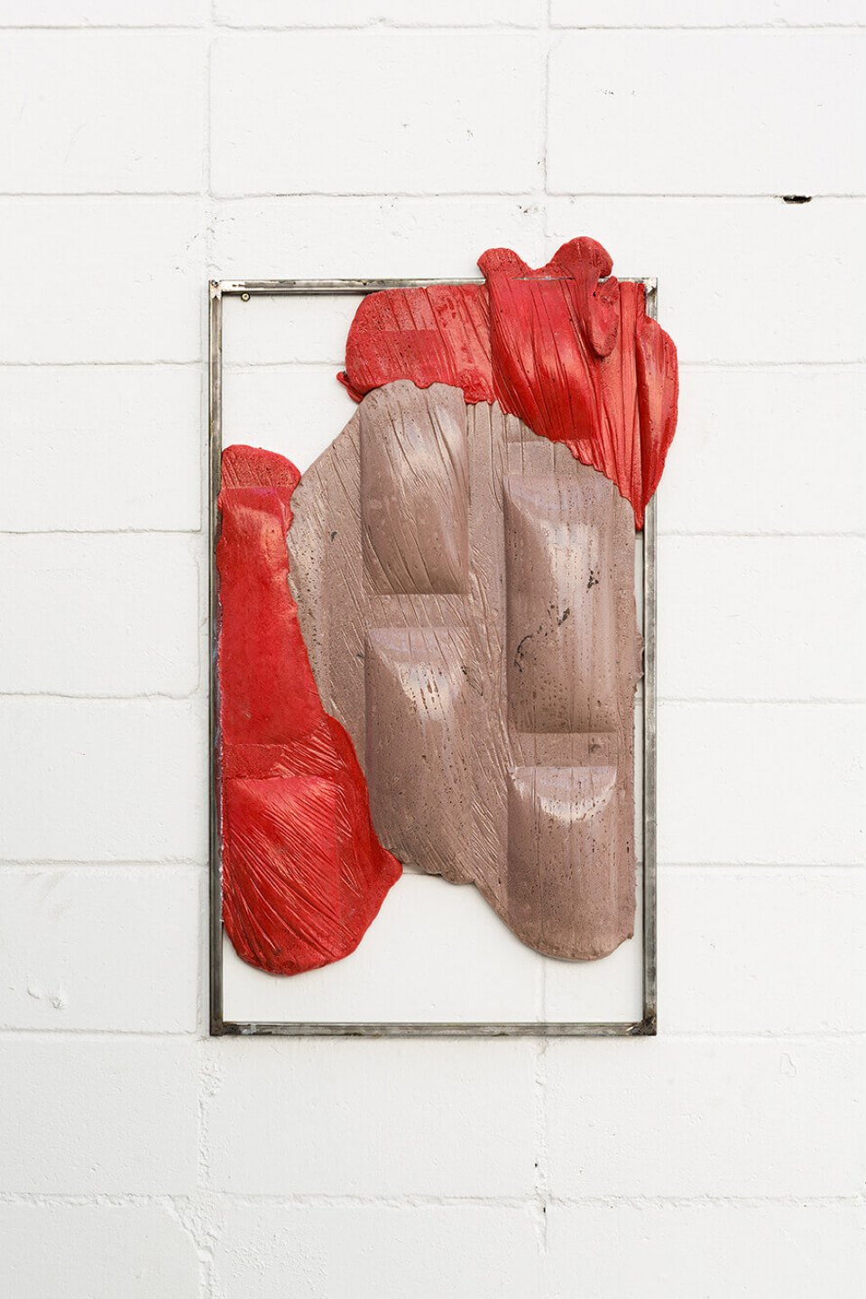 Neïl Beloufa, <em>90º degrees, sports car bar, from Secured wall series</em>, 2014, extensive foam, pigment and metal, 95 × 53 × 6 cm - Mendes Wood DM