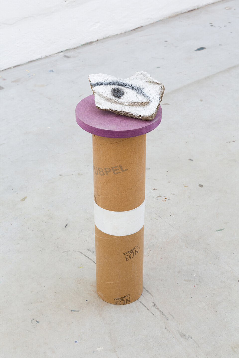 Neïl Beloufa,&nbsp;<em>Security camera, good, all seeing, bad, eye</em>, 2014, mixed media, 58 × 20 cm ø - Mendes Wood DM