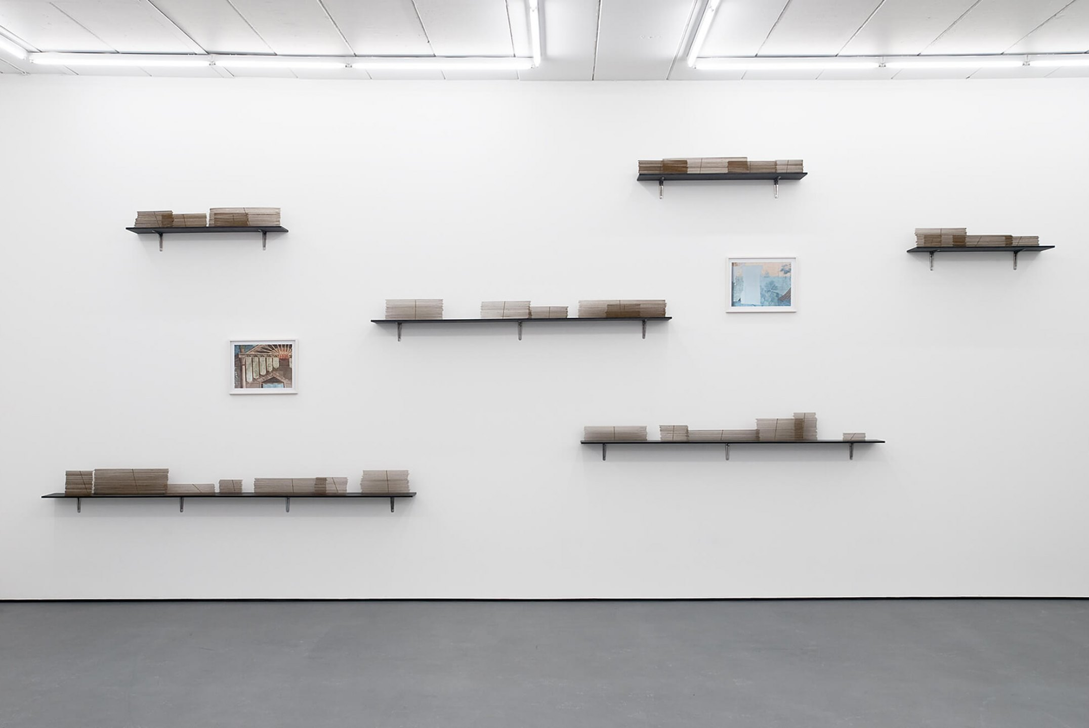 Runo Lagomarsino,<em>Las Casas is Not a Home</em>, 2008/2010, <em>Installation with</em>objects, sculpture, video, drawings prints and shelves, variable dimensions - Mendes Wood DM
