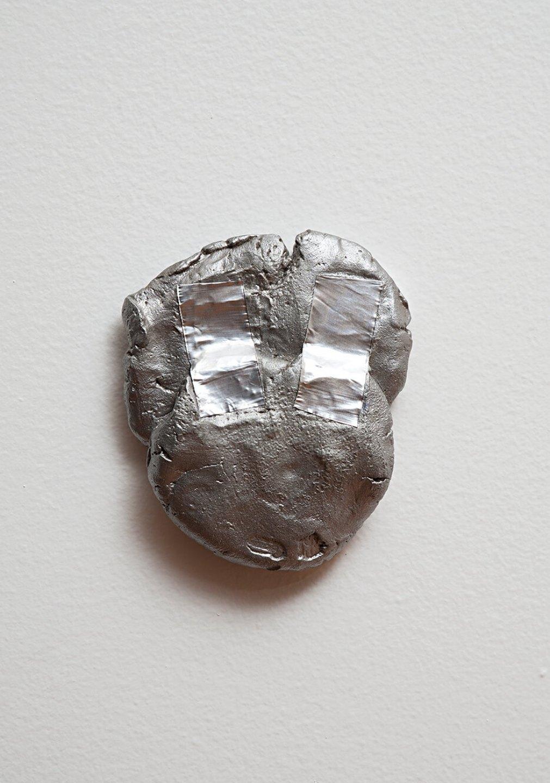 Paulo Monteiro,&nbsp;<em>untitled</em>,&nbsp;2011, aluminum and aluminum tape, 13 ×&nbsp;11 × 2 cm - Mendes Wood DM
