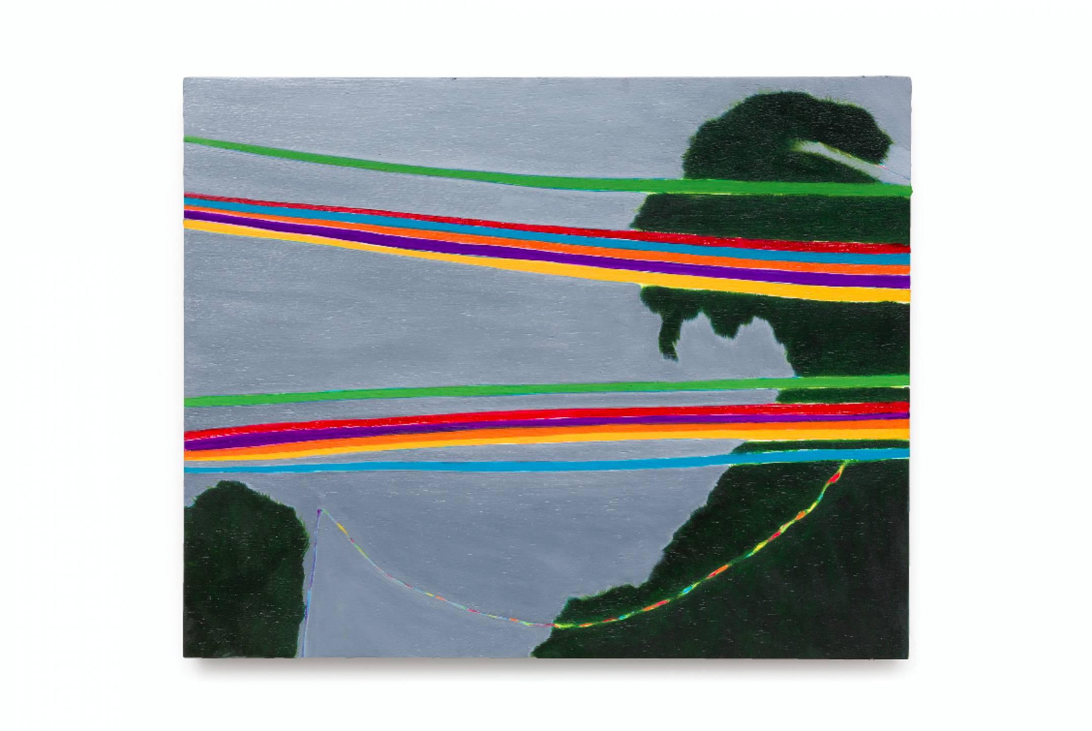 Patricia Leite,<em>Festa no interior</em>, 2015, oil on wood, 40 ×50 cm - Mendes Wood DM