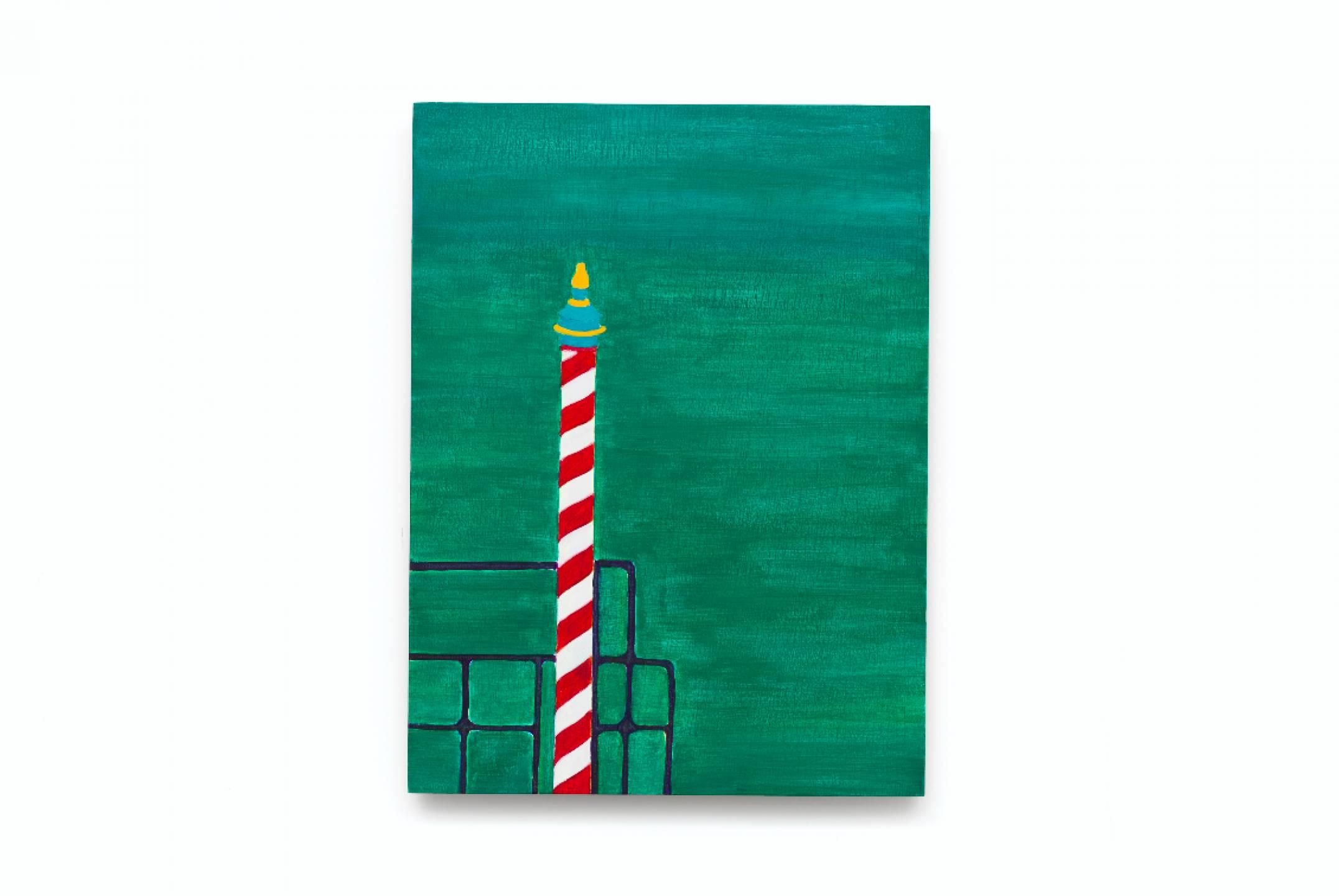 Patricia Leite, <em>untitled, from Veneza series</em>,2015, oil on wood, 40 ×30 cm - Mendes Wood DM