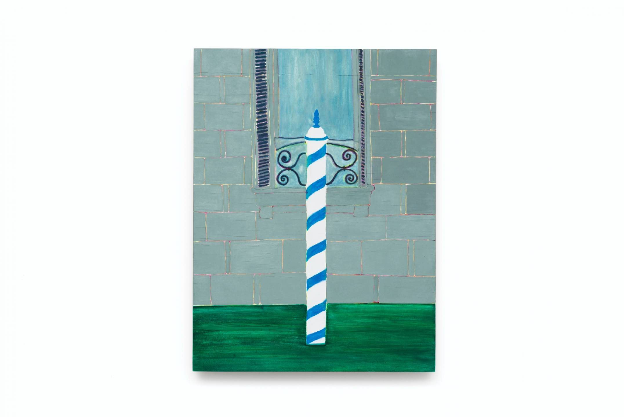 Patricia Leite,<em>untitled, from Veneza series,</em>2015, oil on wood, 40 ×30 cm - Mendes Wood DM