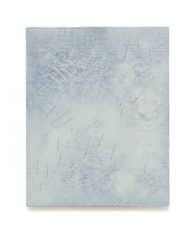 Iulia Nistor,<em>Evidence L6 F5 A9,</em> 2017, oil on wood, 50 × 40 cm - Mendes Wood DM