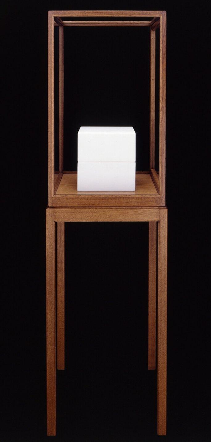 James Lee Byars<em>, The Cube Book,</em>1989,marble,25 × 25 × 25 cm - Mendes Wood DM