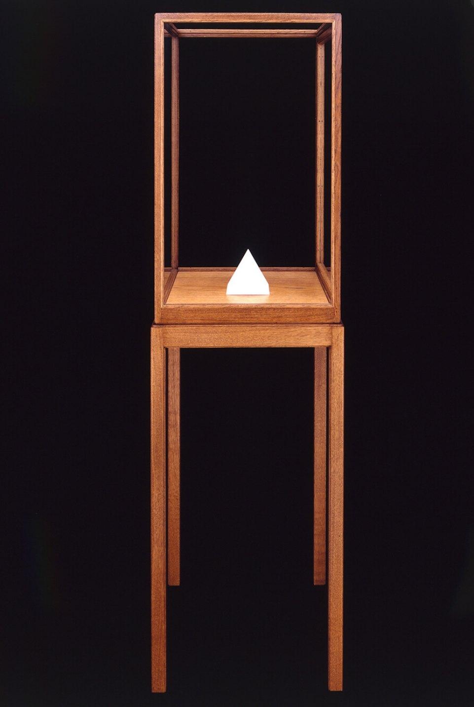 James Lee Byars,<em>The Triangle Book,</em>1988,marble,12 × 12 × 12 cm - Mendes Wood DM