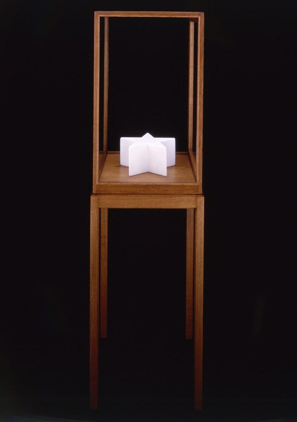 James Lee Byars<em>, The Star Book,</em>1990,marble,13,5 × 27 × 27 cm - Mendes Wood DM