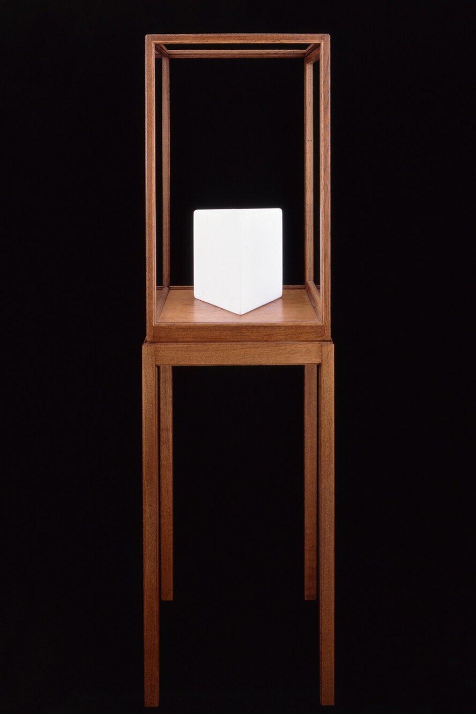 James Lee Byars,<em>The Triangle Book</em>, 1990,marble,27 × 27 × 27 cm - Mendes Wood DM