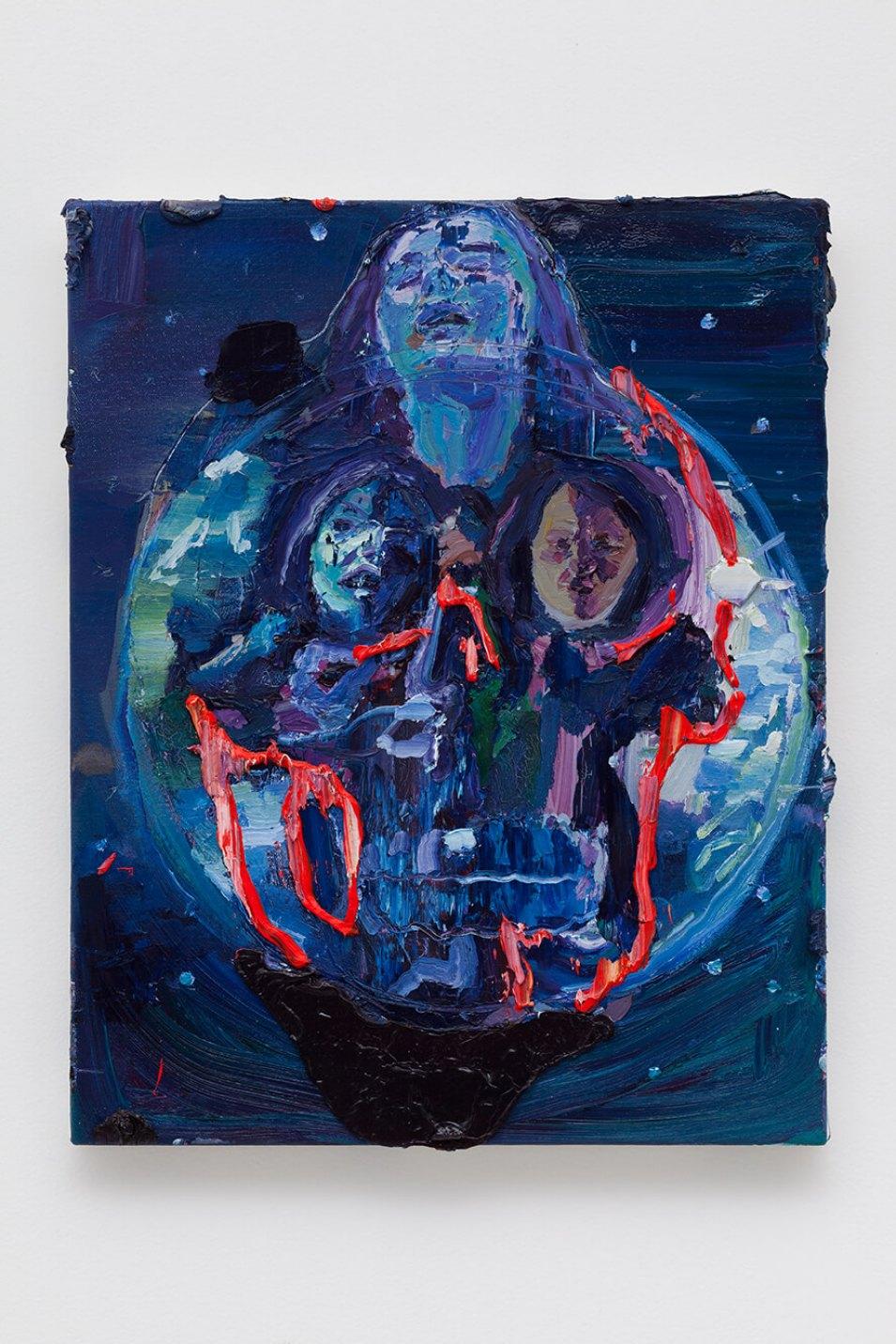 Thiago Martins de Melo,<em>Moiras amazônicas, </em>2016,oil on canvas,51 × 41 ×4,5 cm - Mendes Wood DM