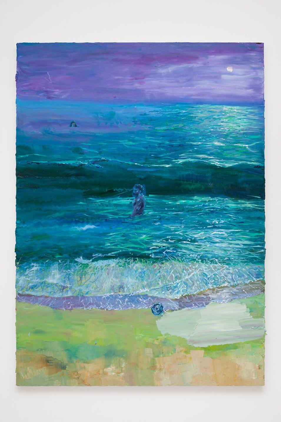 Thiago Martins de Melo,<em>Despedida</em>,2016,oil on canvas, 180 x 130 cm - Mendes Wood DM